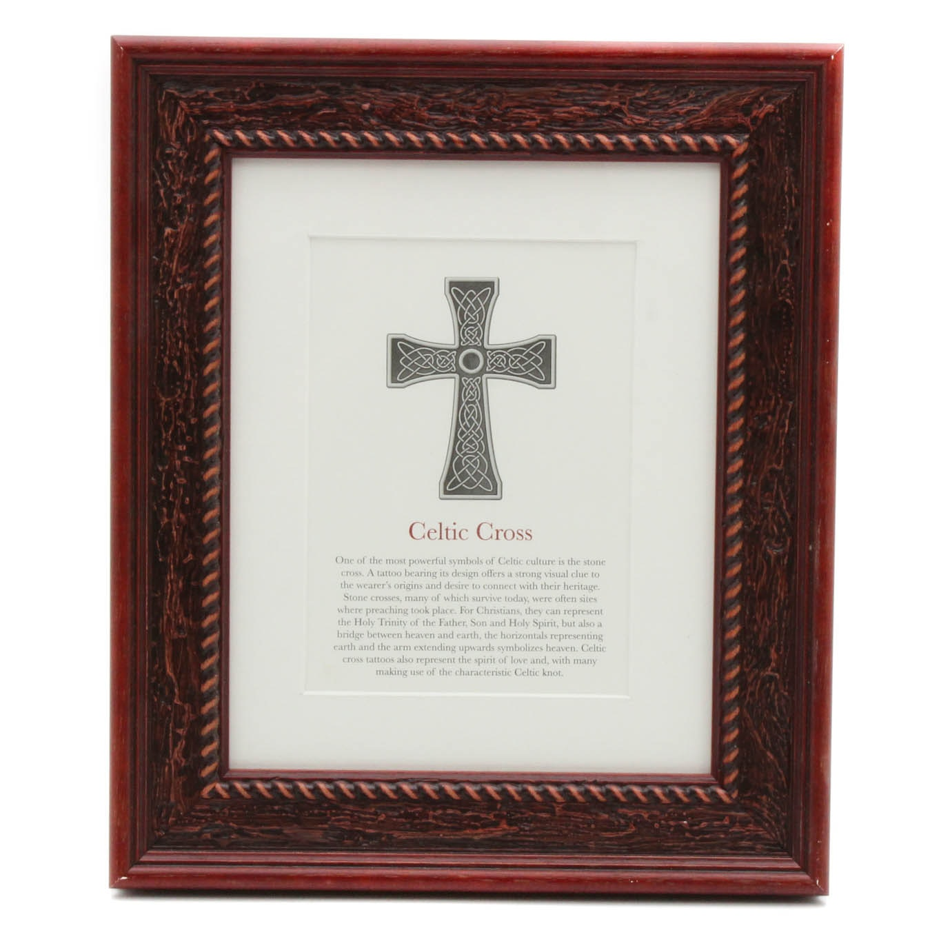 """Offset Print """"Celtic Cross"""" from Jack Watkins """"Tattoos: Symbols and Meanings"""""""