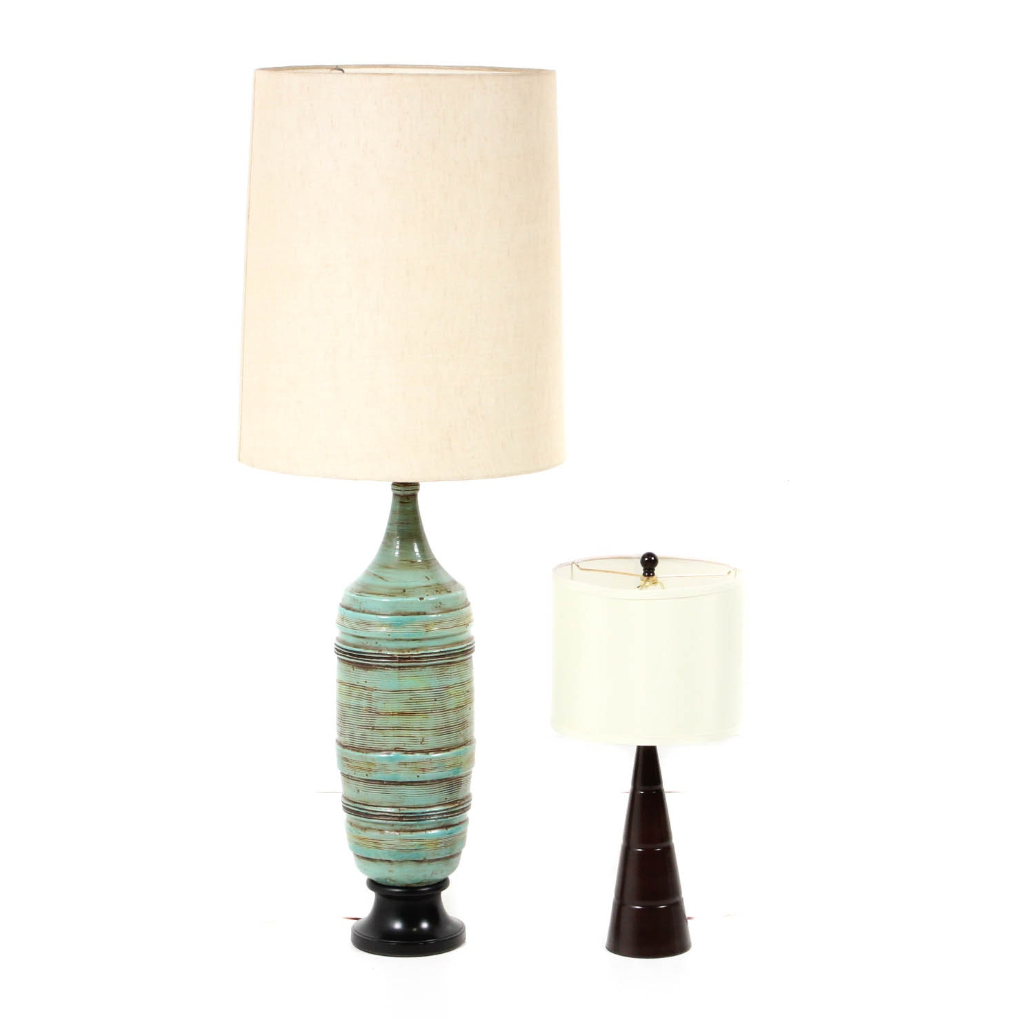 Two Mid Century Modern Style Table Lamps