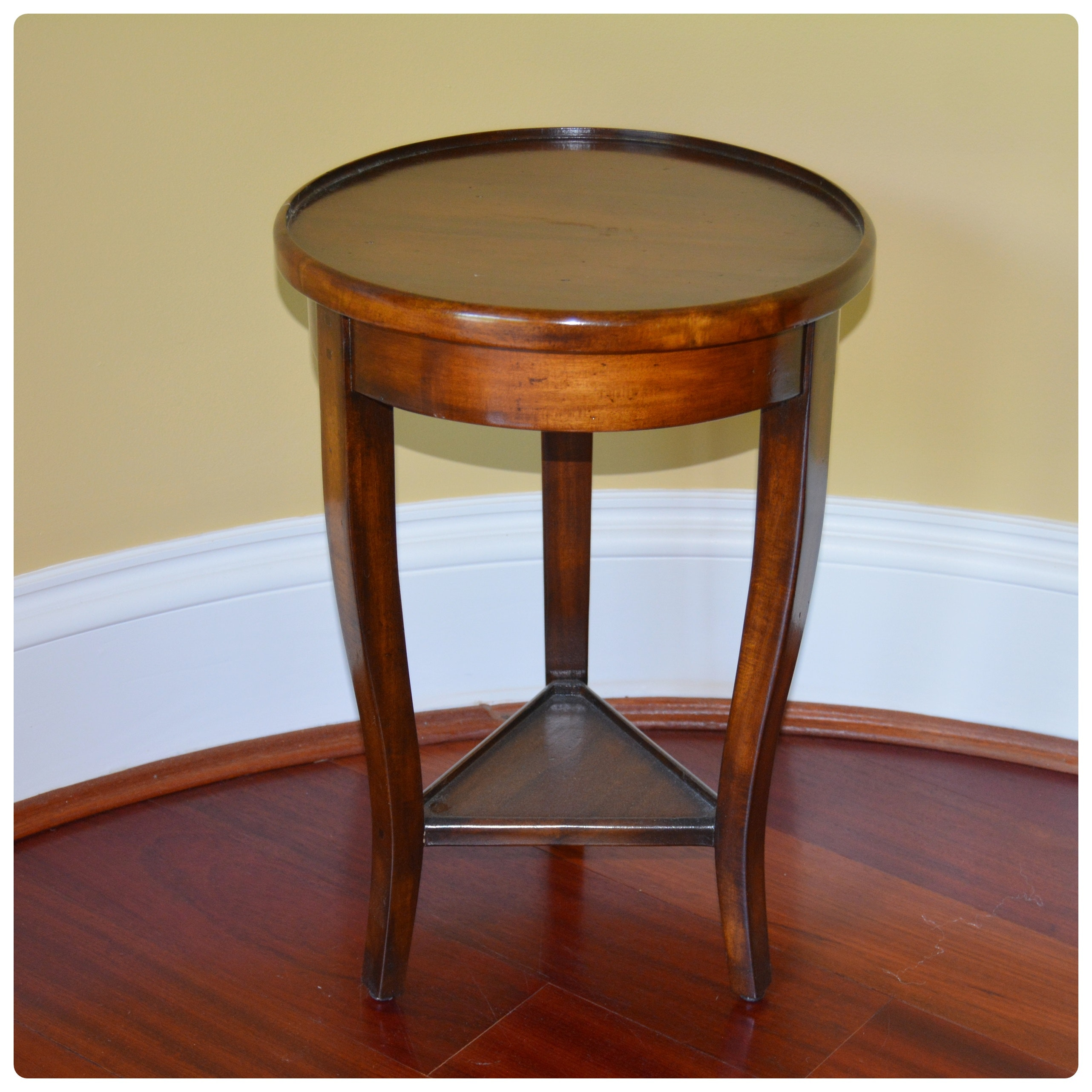 Round Wood Accent Table by Sarreid Ltd.