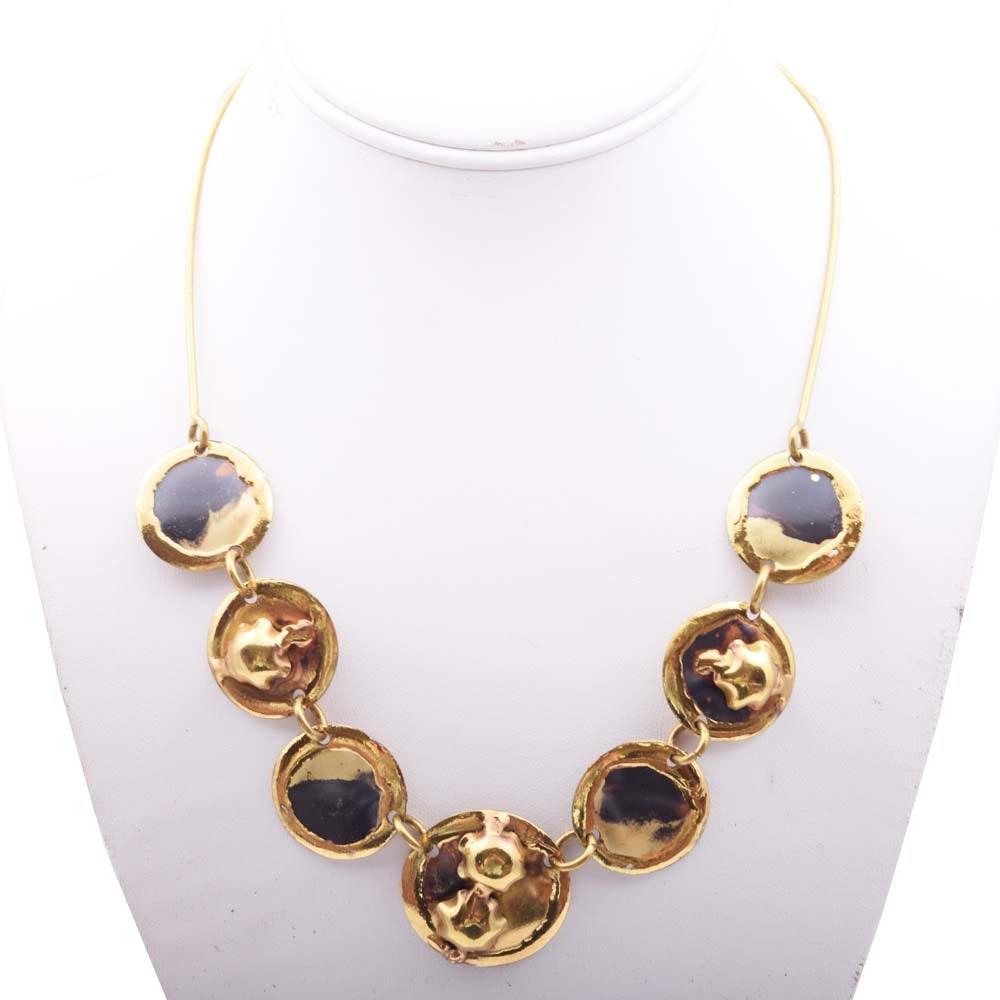 Brass Medallion Necklace