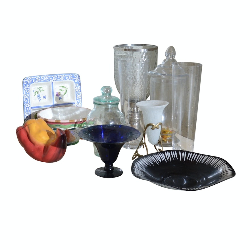 Decorative Glass Vases And Bowls Ebth