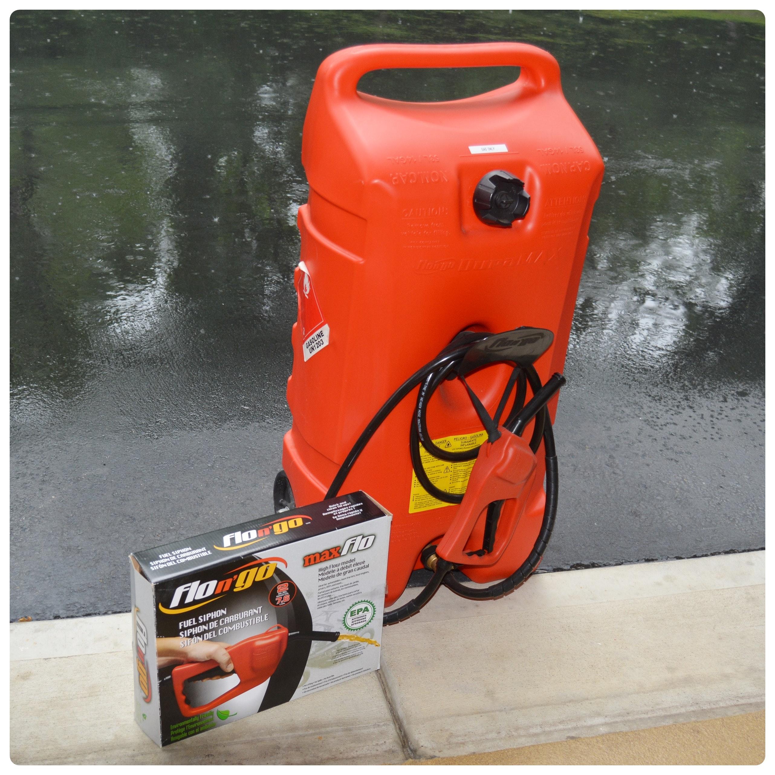 Flo-N-Go Duramax 14 Gallon Gas Tank and Fuel Siphon