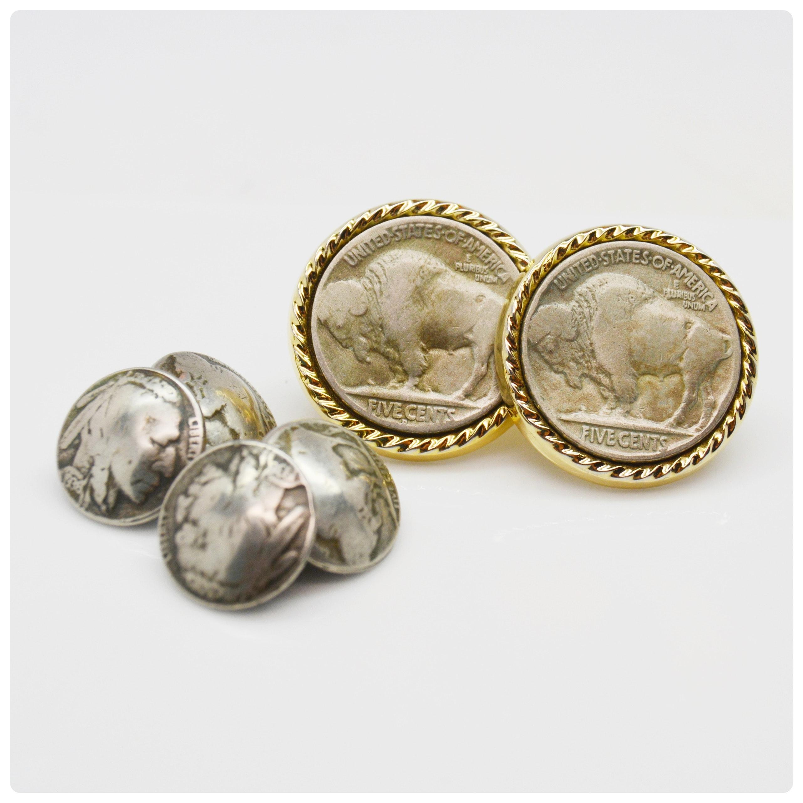 Buffalo Nickel Coin Cufflinks and Other Cufflinks