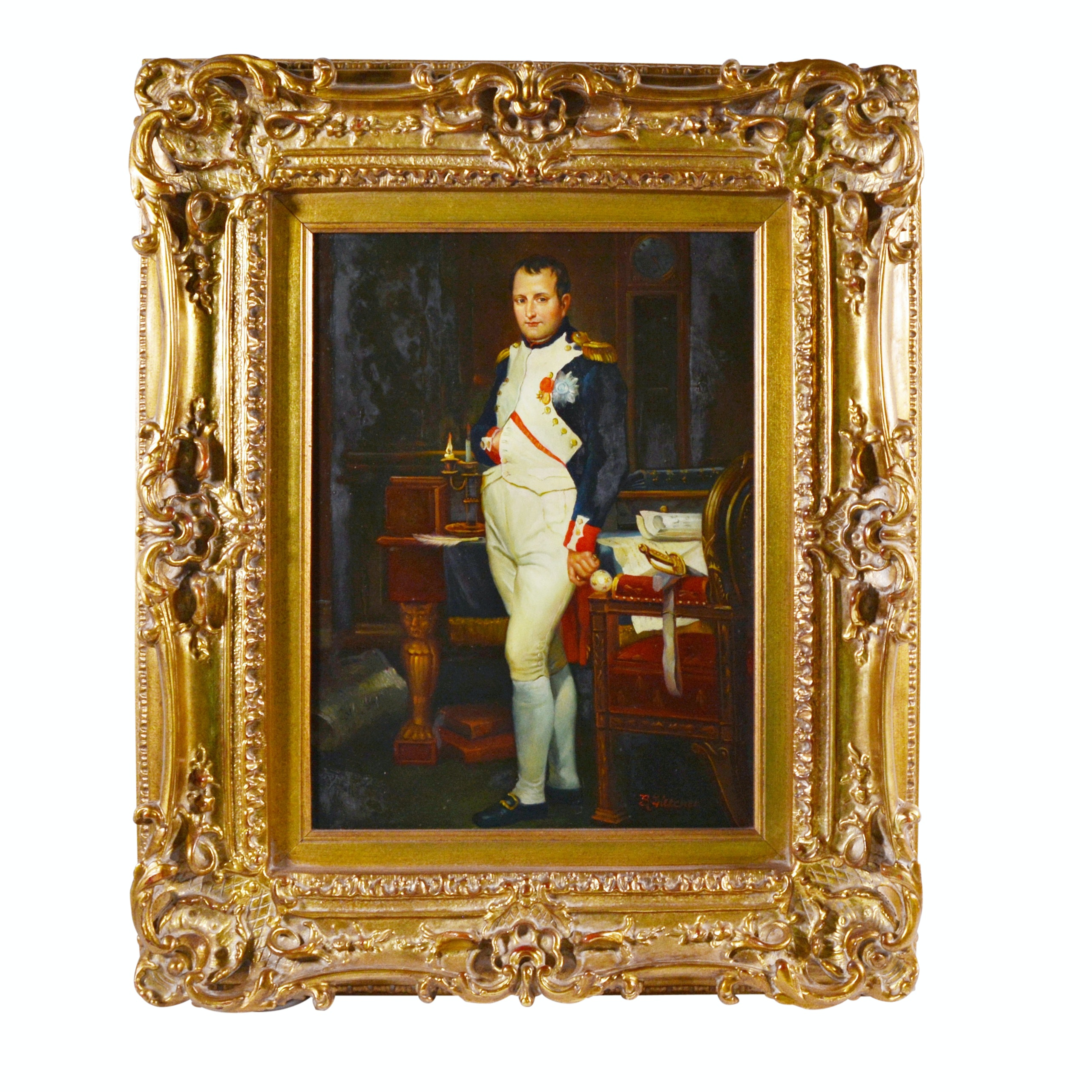 Reproduction Painting of Napoleon After Jacques-Louis David by B. Fletcher