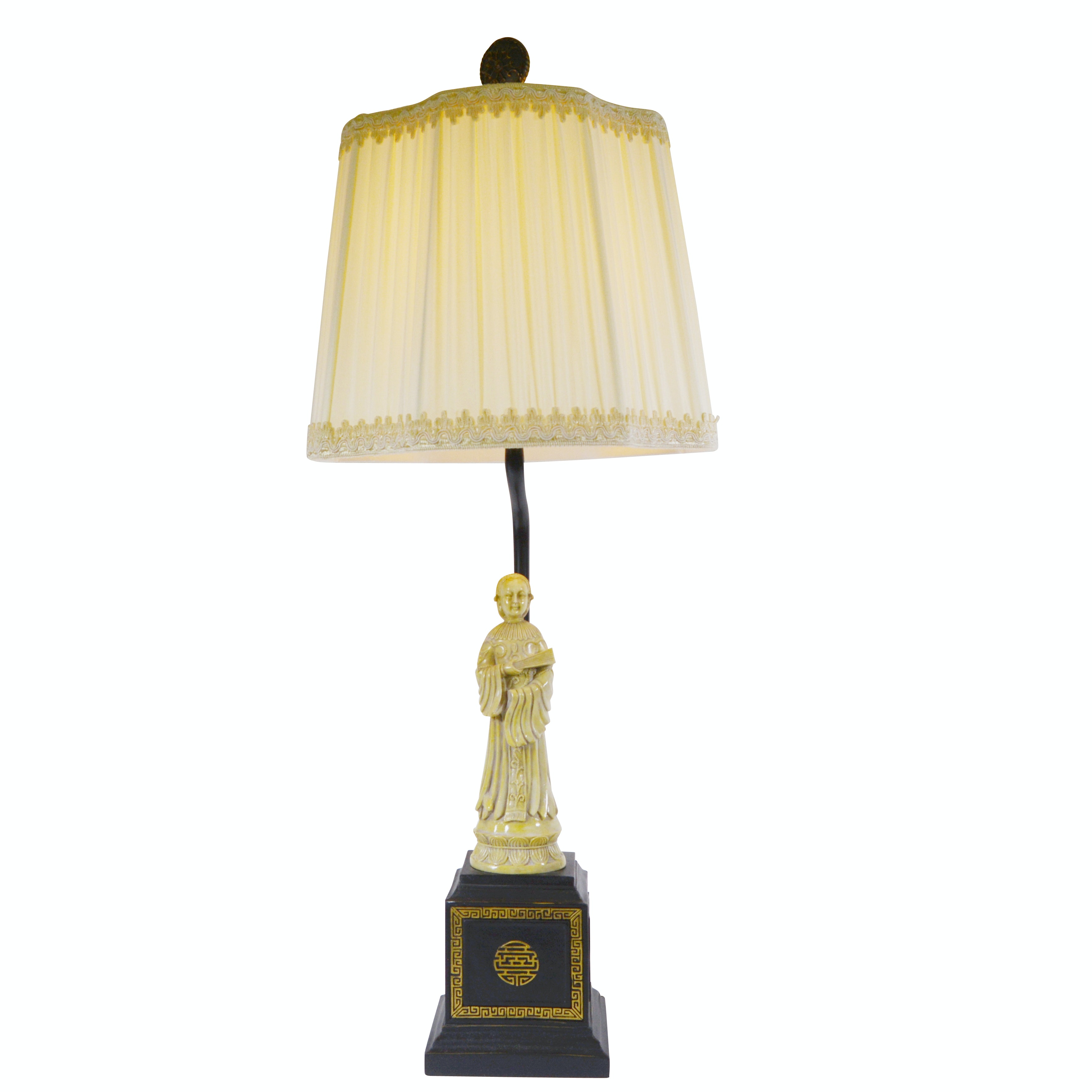 Chinese Figural Resin Table Lamp