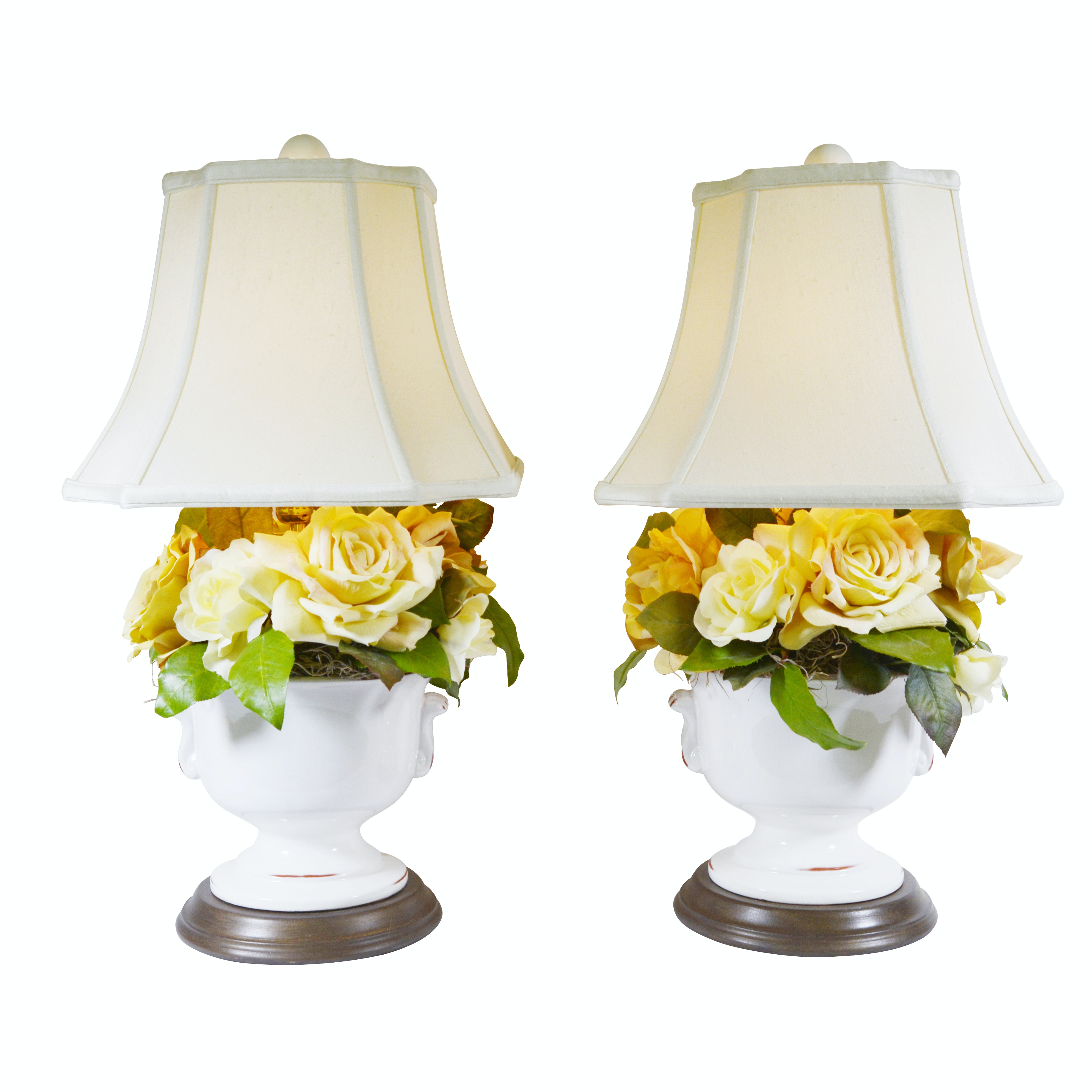 Signed Ceramic Table Lamps from Camargo Trading Company
