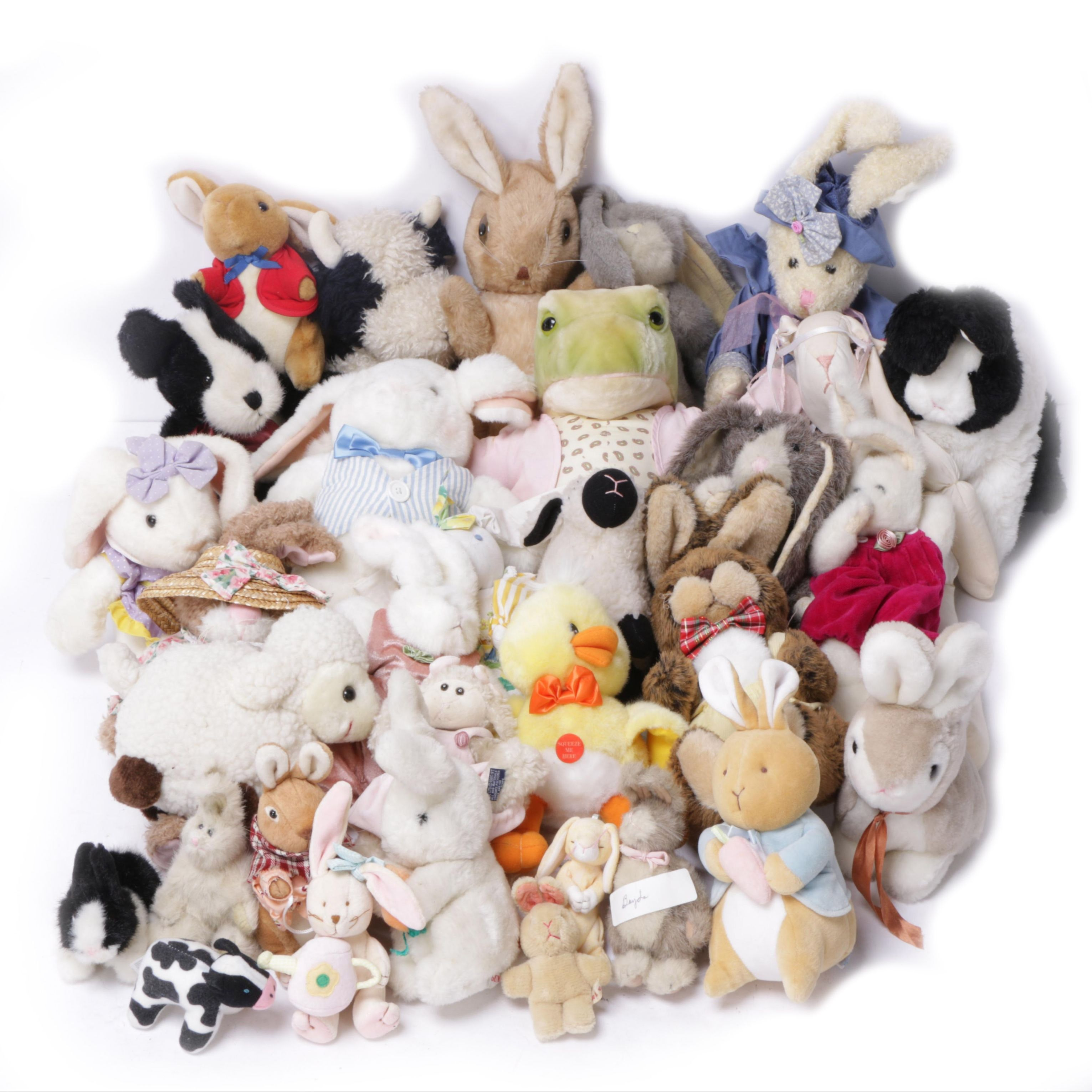 Rabbit And Farm Animal Stuffed Toys Ebth