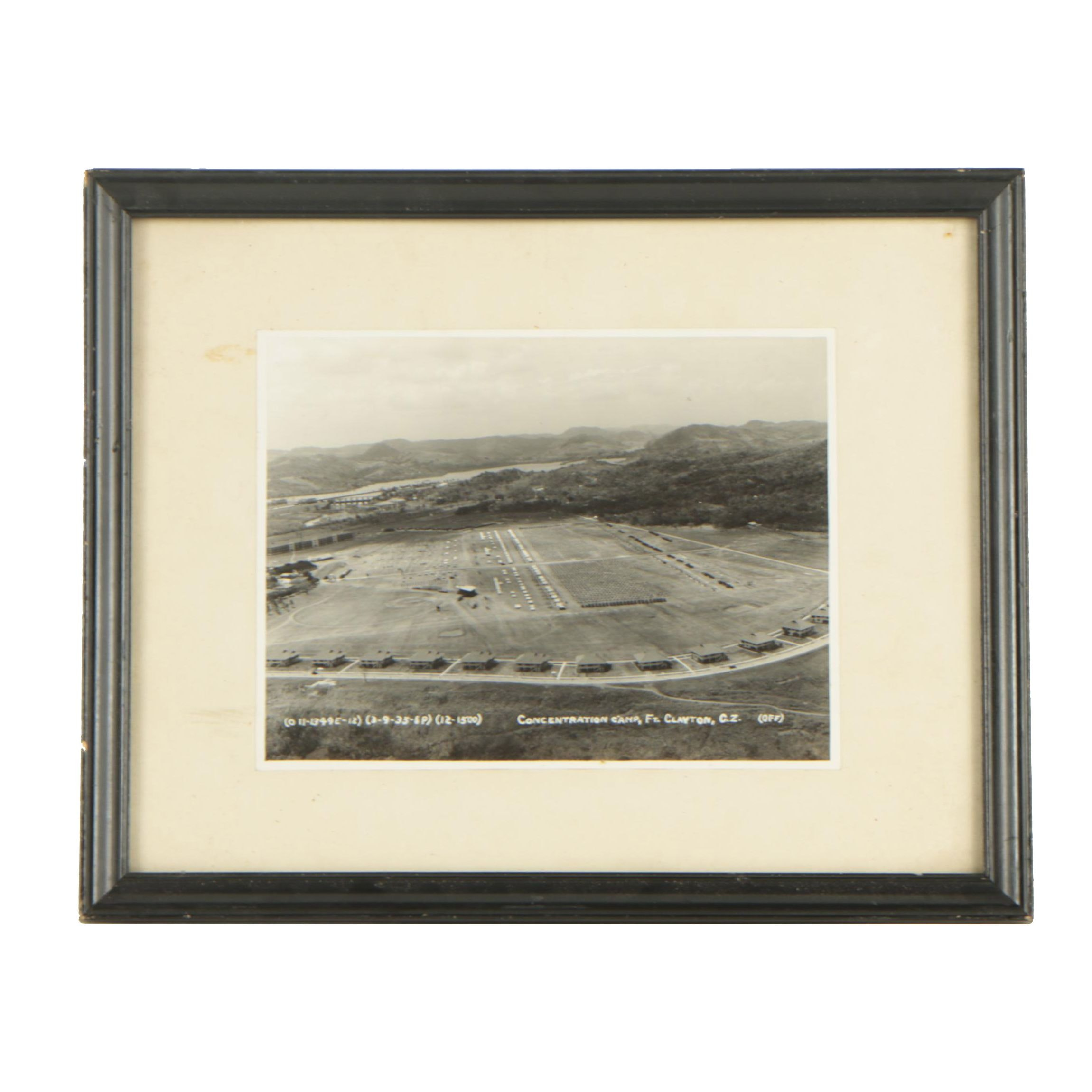 Mid 20th Century Gelatin-Silver Photograph of a U.S. Military Base in Panama