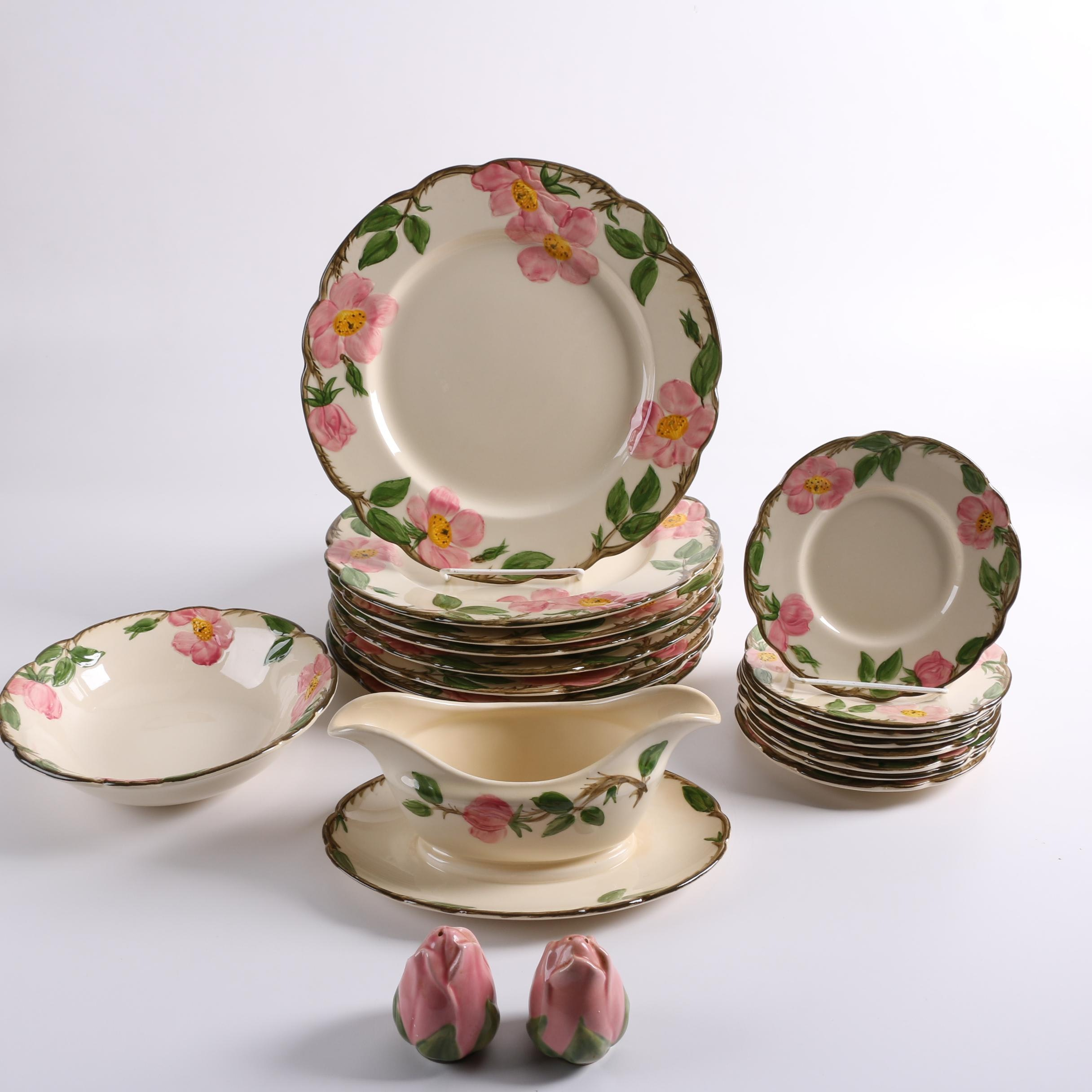 "Vintage Franciscan ""Desert Rose"" Earthenware Dinner and Serveware"