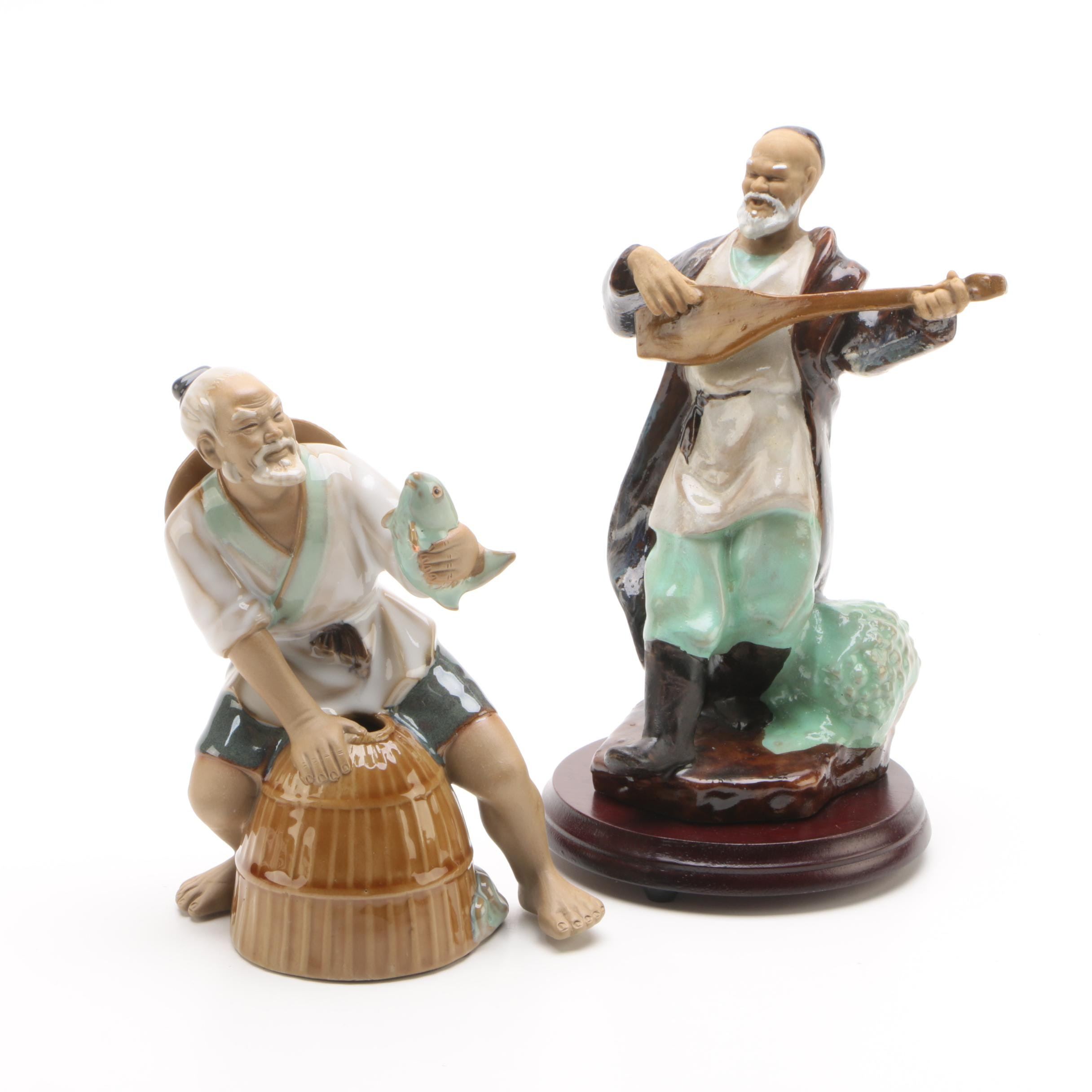 Chinese Shiwan Ware Ceramic Figurines