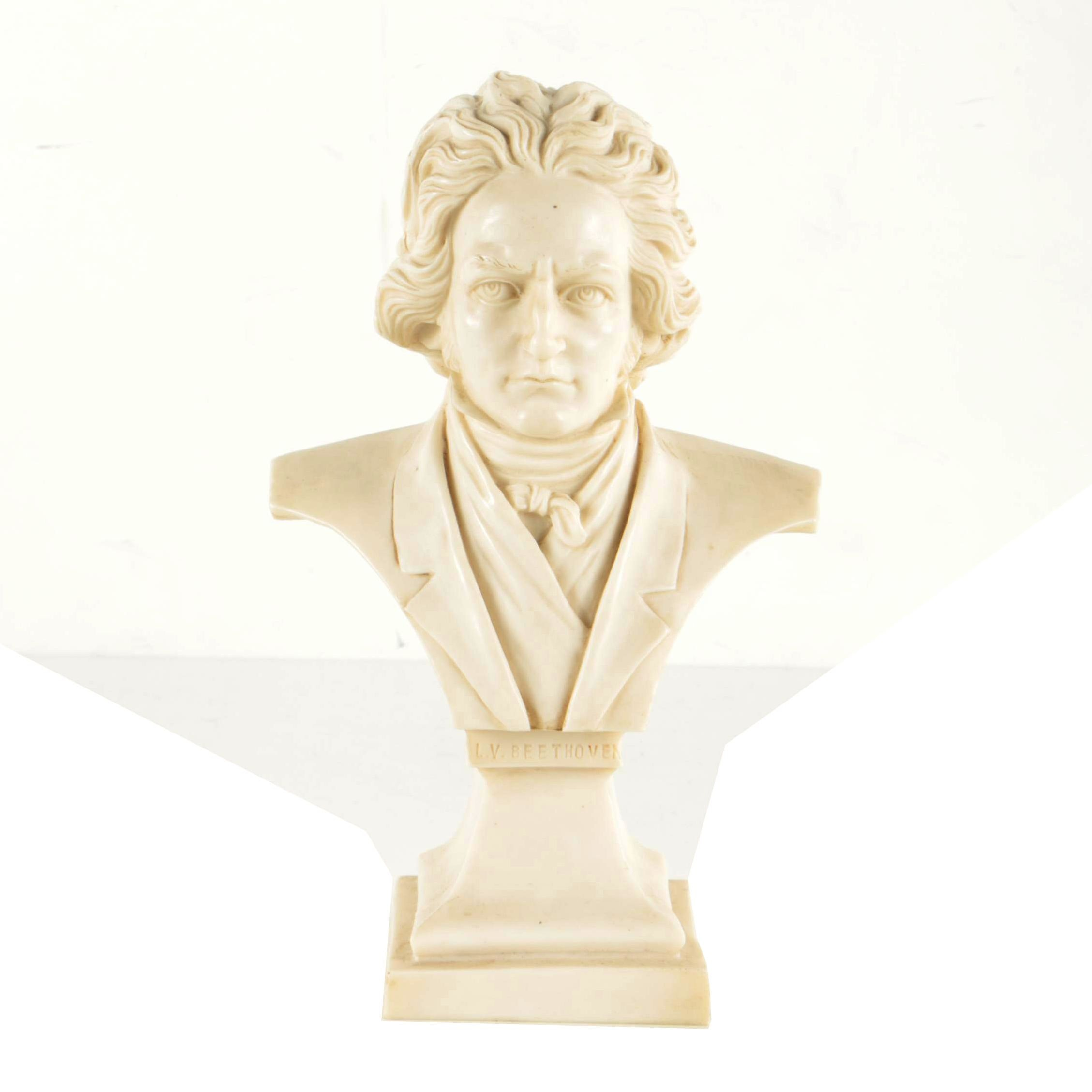 Cast Resin Bust of Beethoven