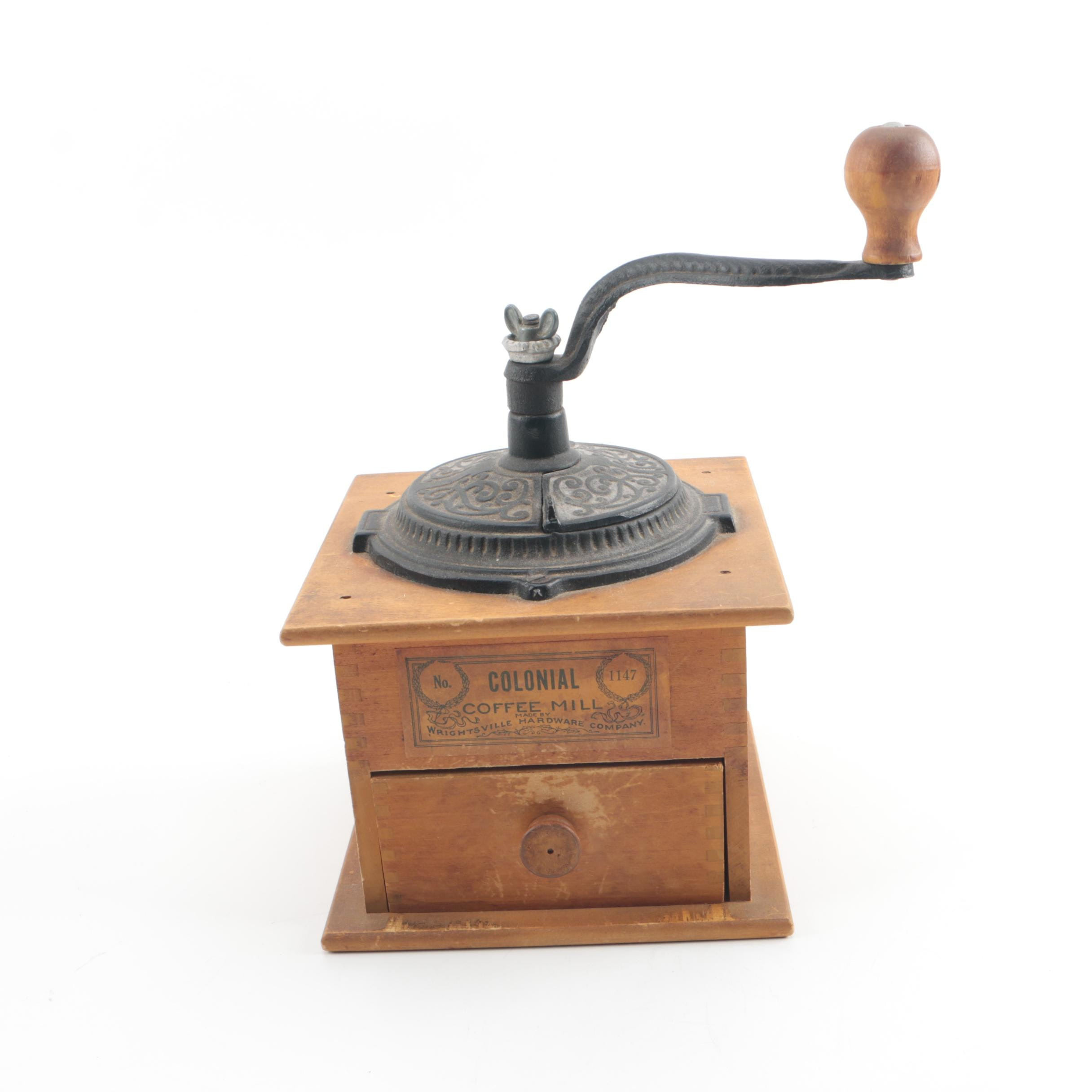 Vintage Wrightsville Hardware Co. Colonial Coffee Mill