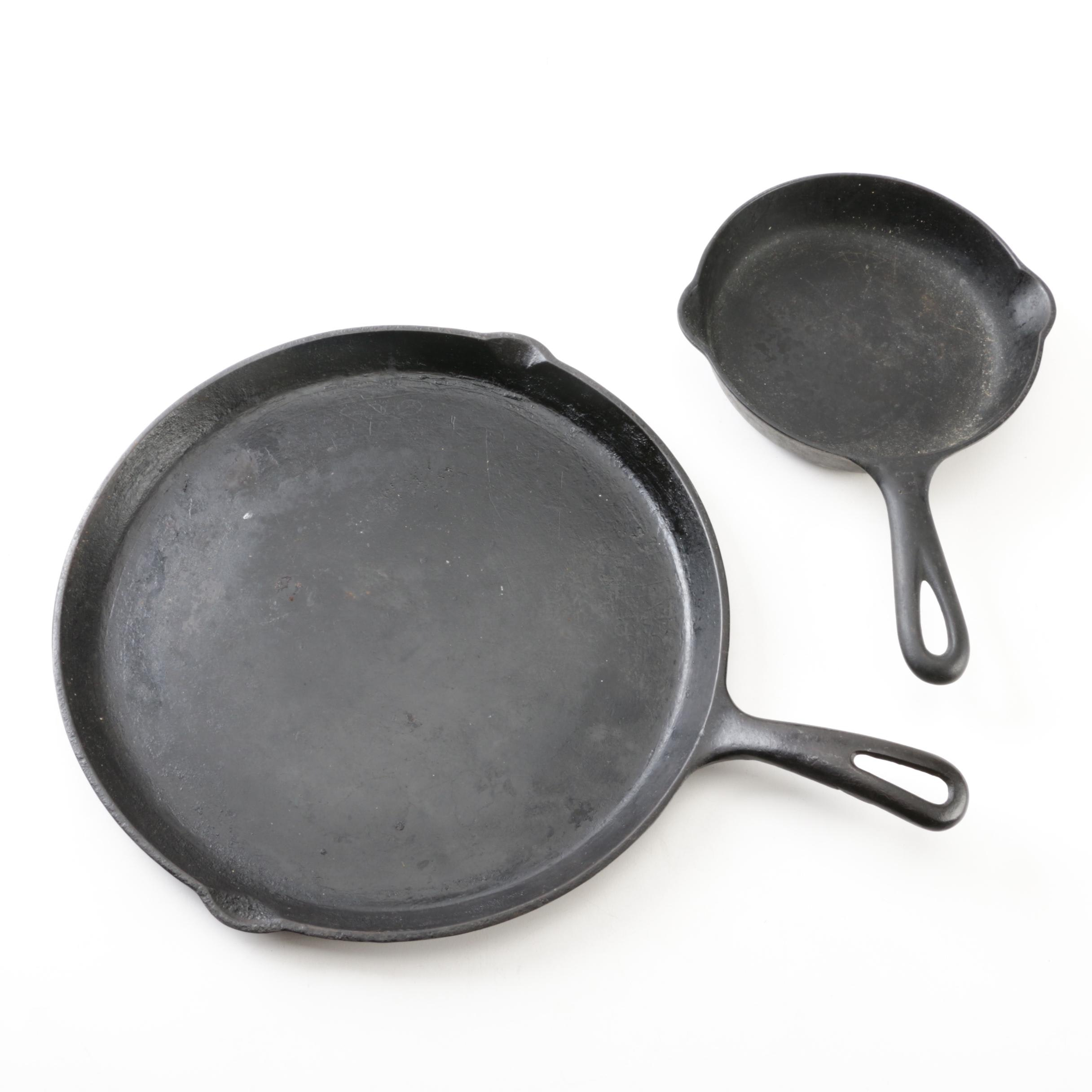 Griswold Cast Iron Skillet and Griddle