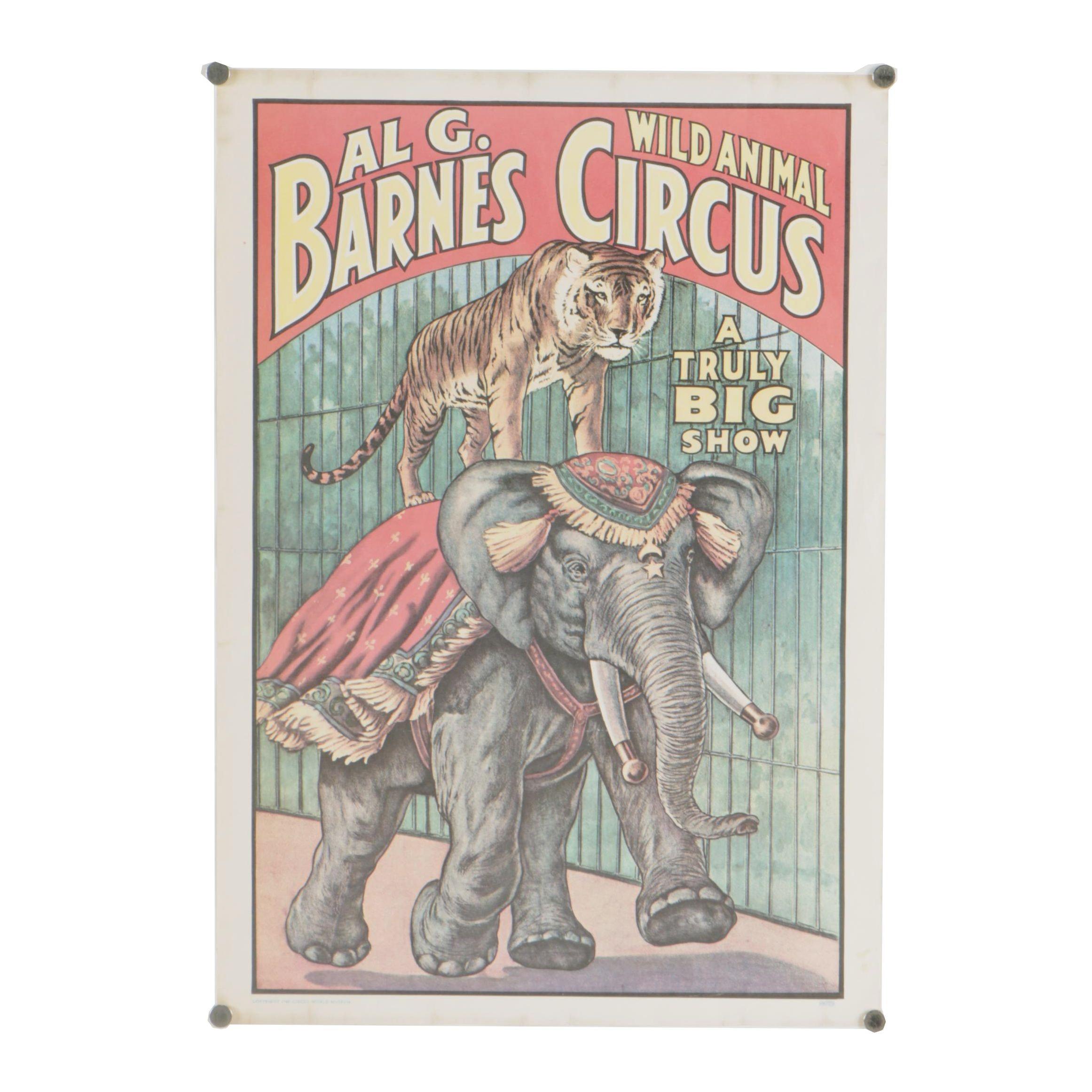 Al G. Barnes Wild Animal Circus Poster