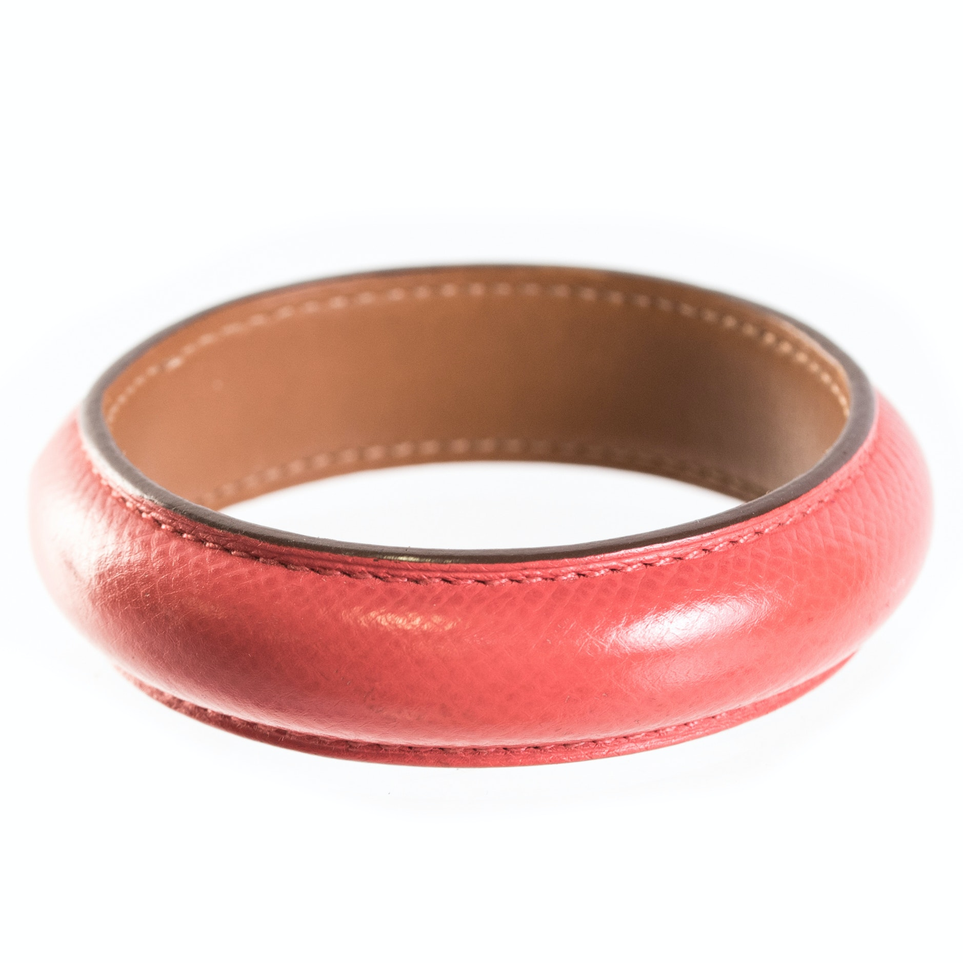 Hermès Paris Leather Bangle Bracelet