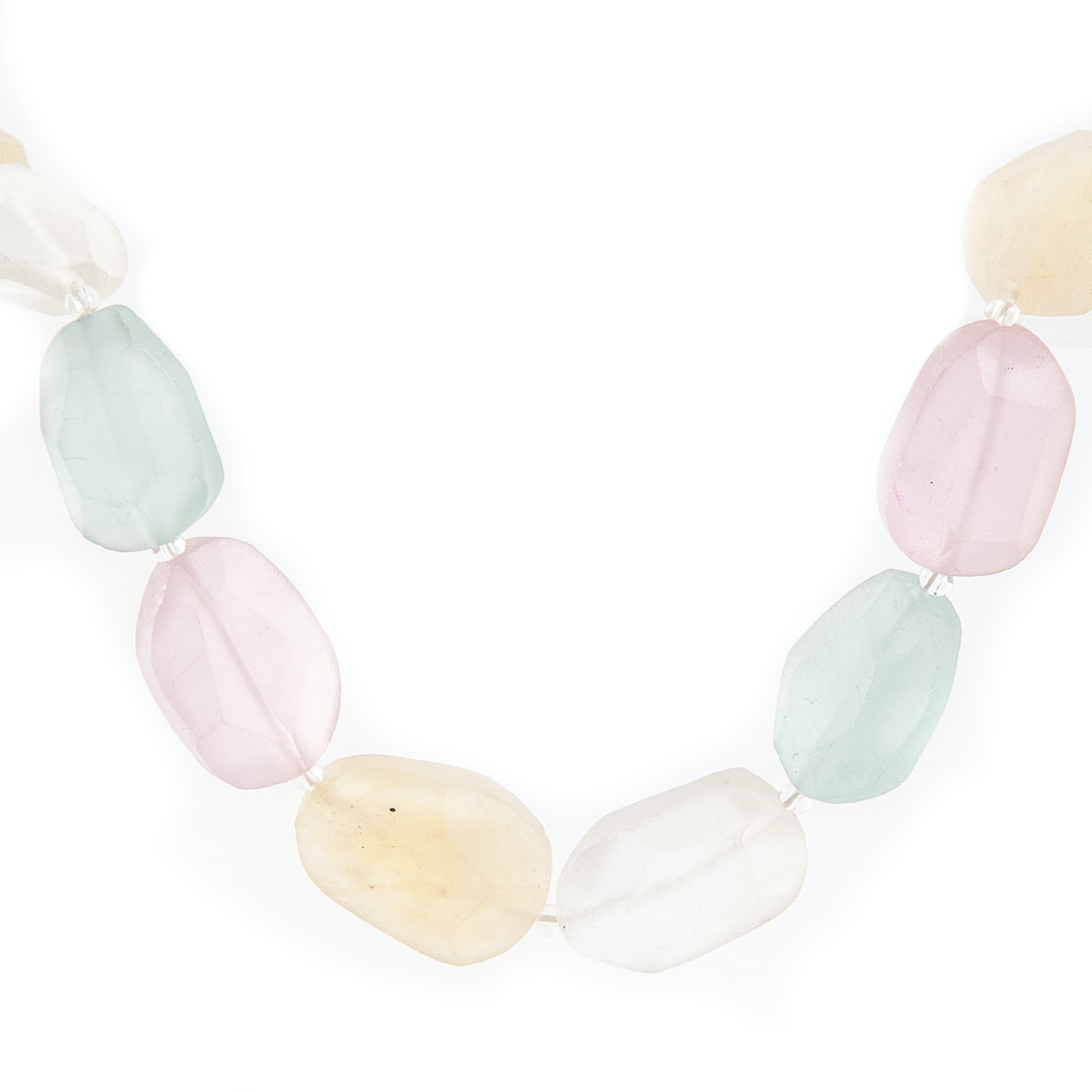 Kenneth Lane Tumbled Glass Necklace