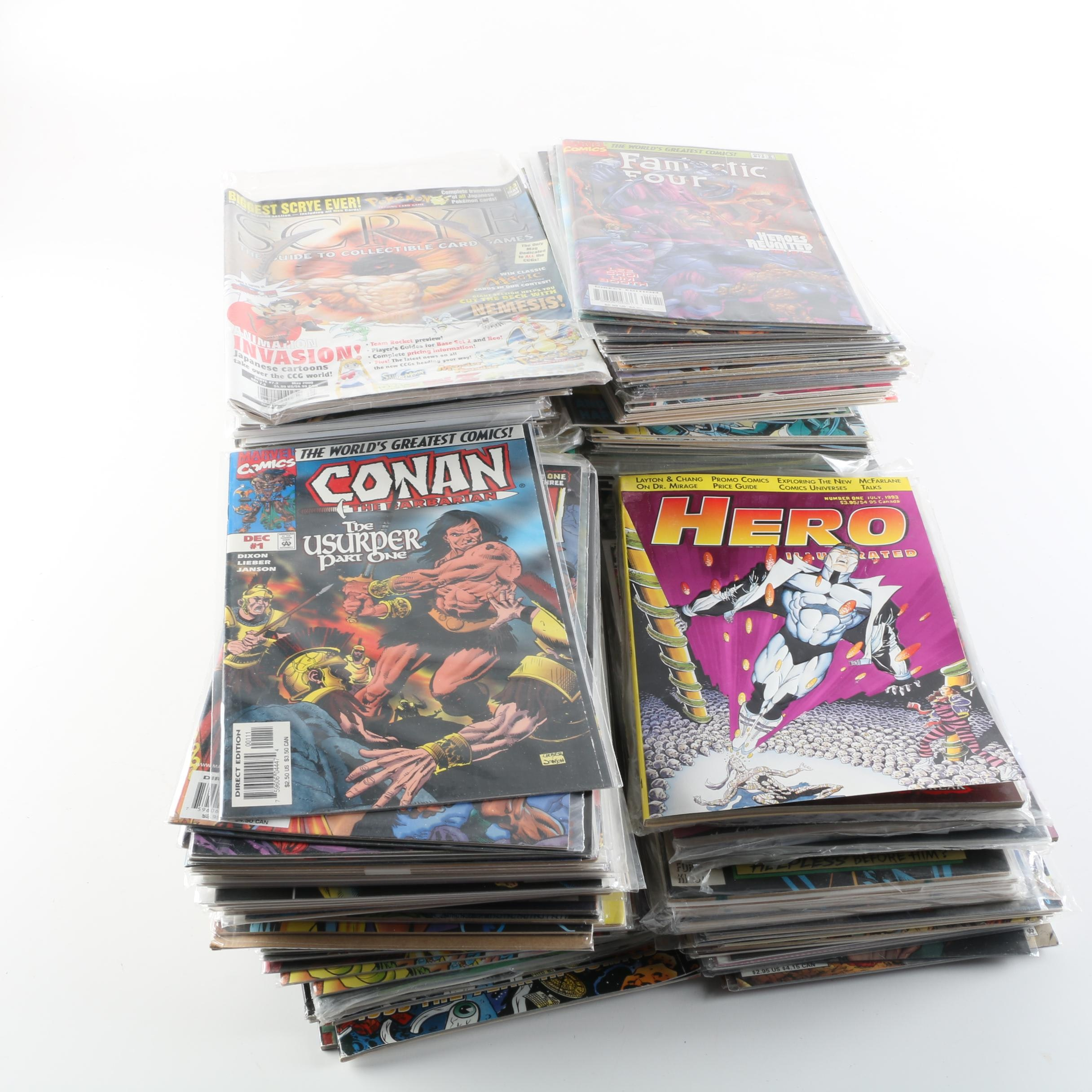 Modern Age Comics Including Fantastic Four and Magazines