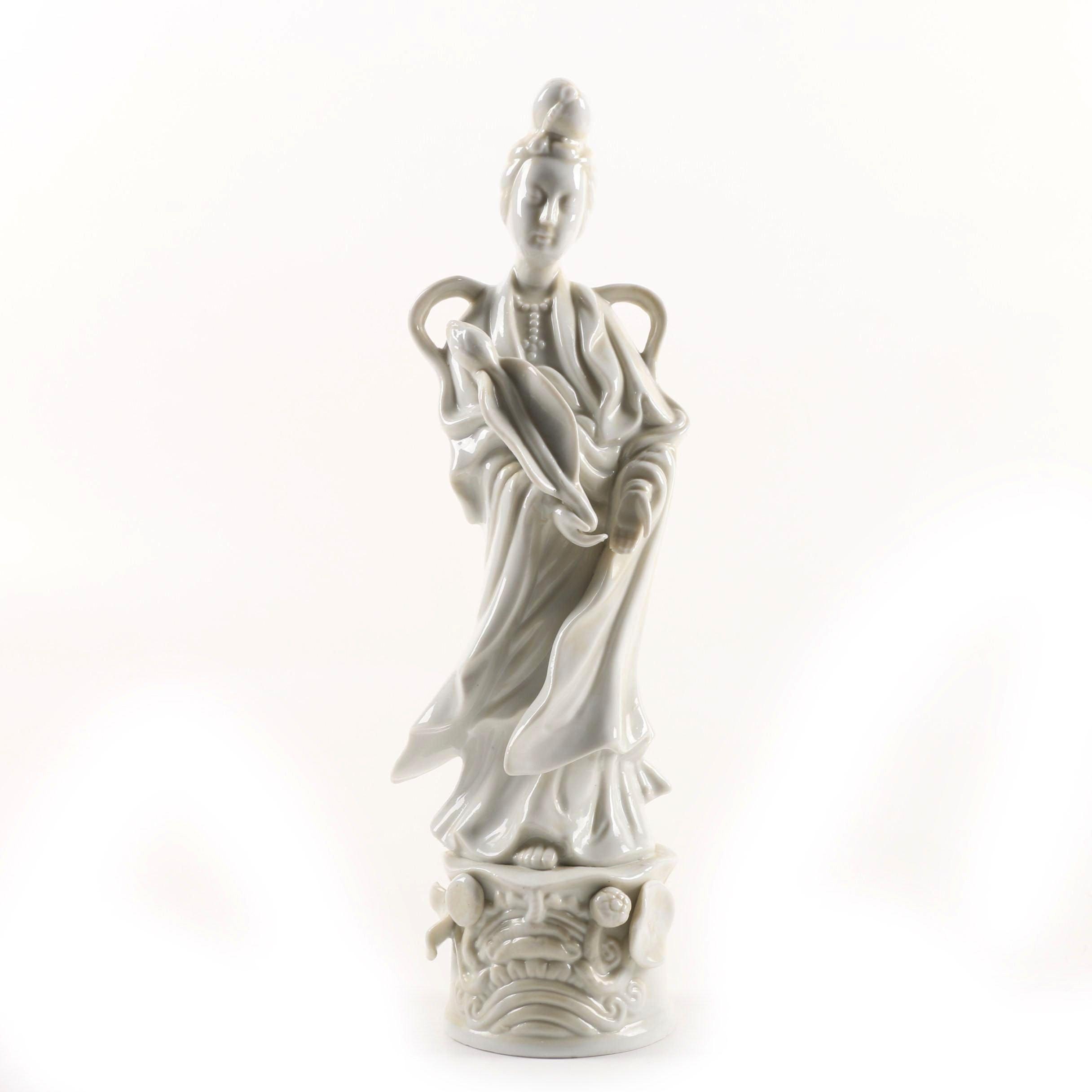 Vintage HOMCO Blanc de Chine Figurine