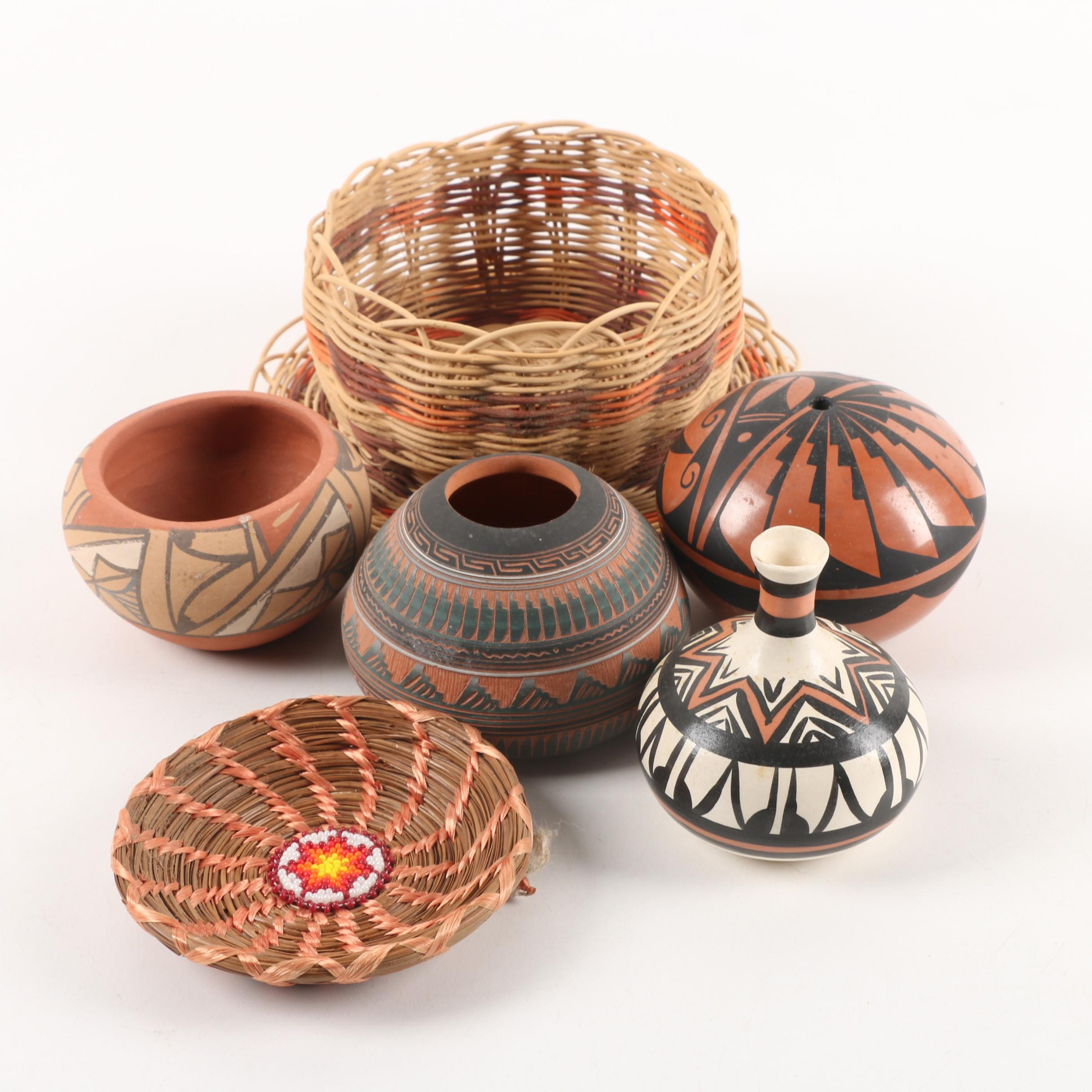 Native American and Native American Inspired Pottery and Baskets