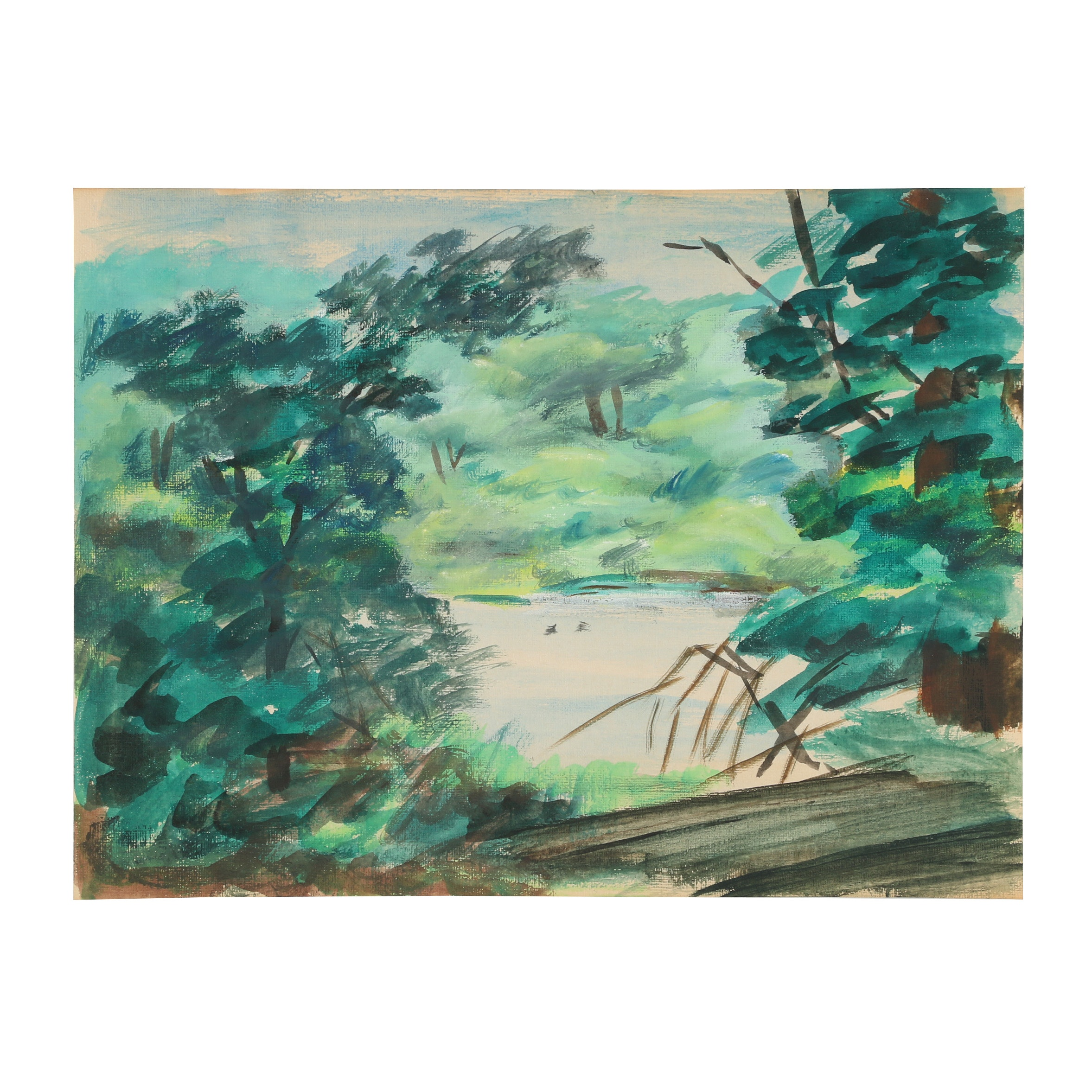 Florence Bartley Smithburn Watercolor Painting