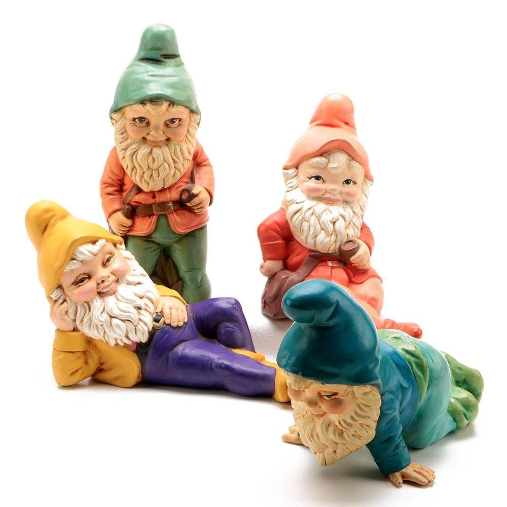 Hand-Painted Ceramic Garden Gnomes