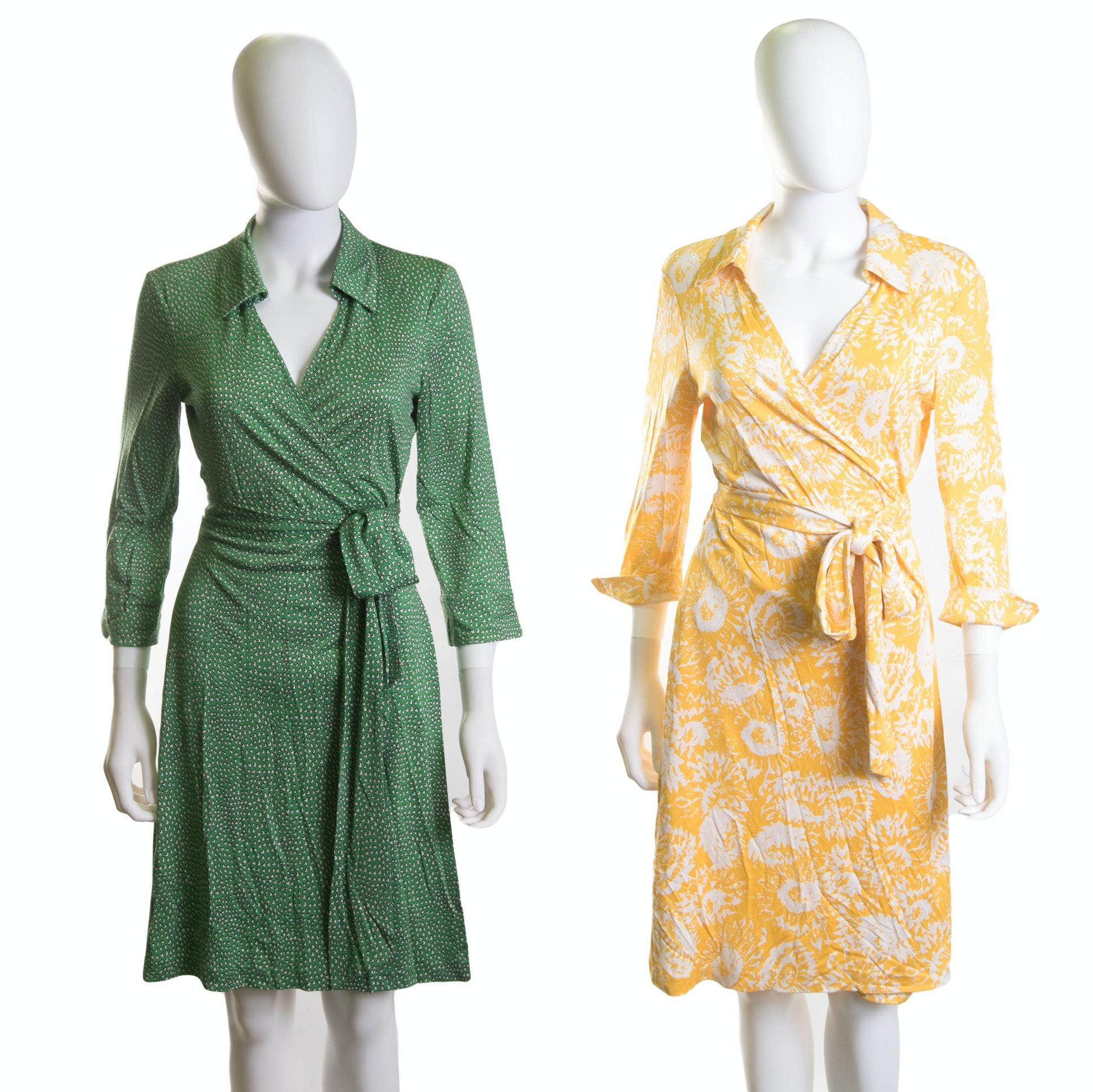 """Diane von Furstenburg """"Vintage"""" Silk Wrap Dresses"""