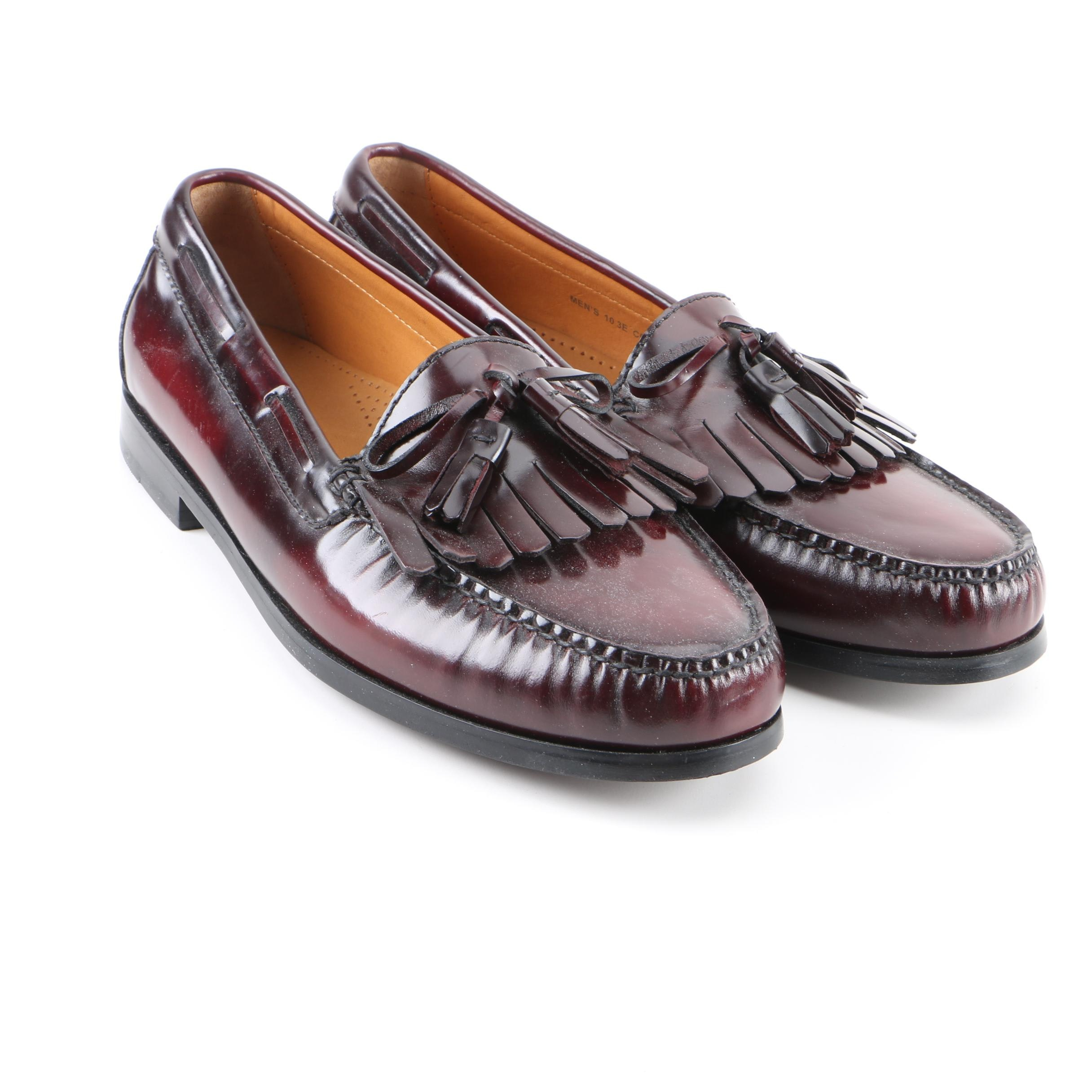 Men's Cole Haan Brown Leather Tassel Loafers