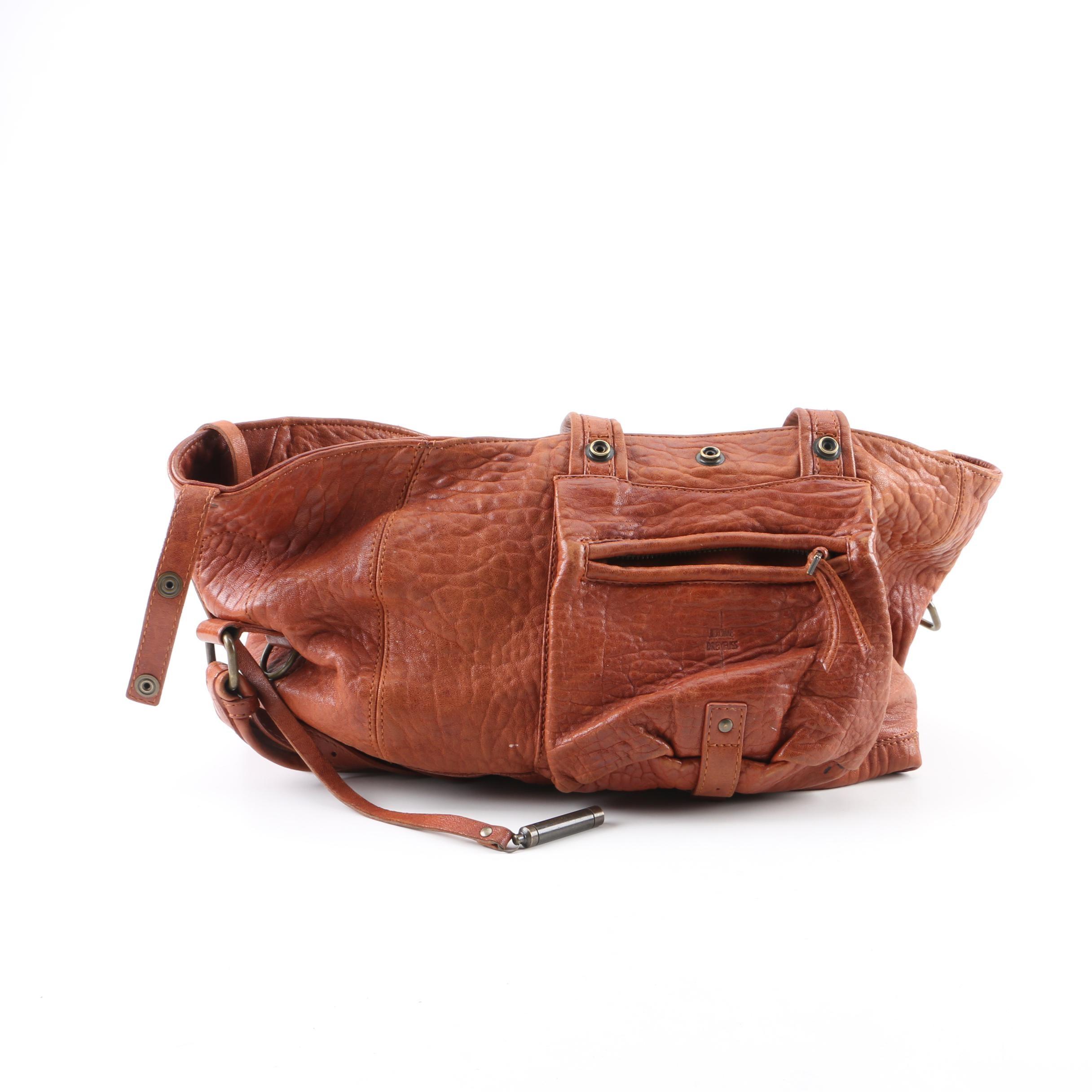 Jerome Dreyfuss Brown Leather Billy Shoulder Bag