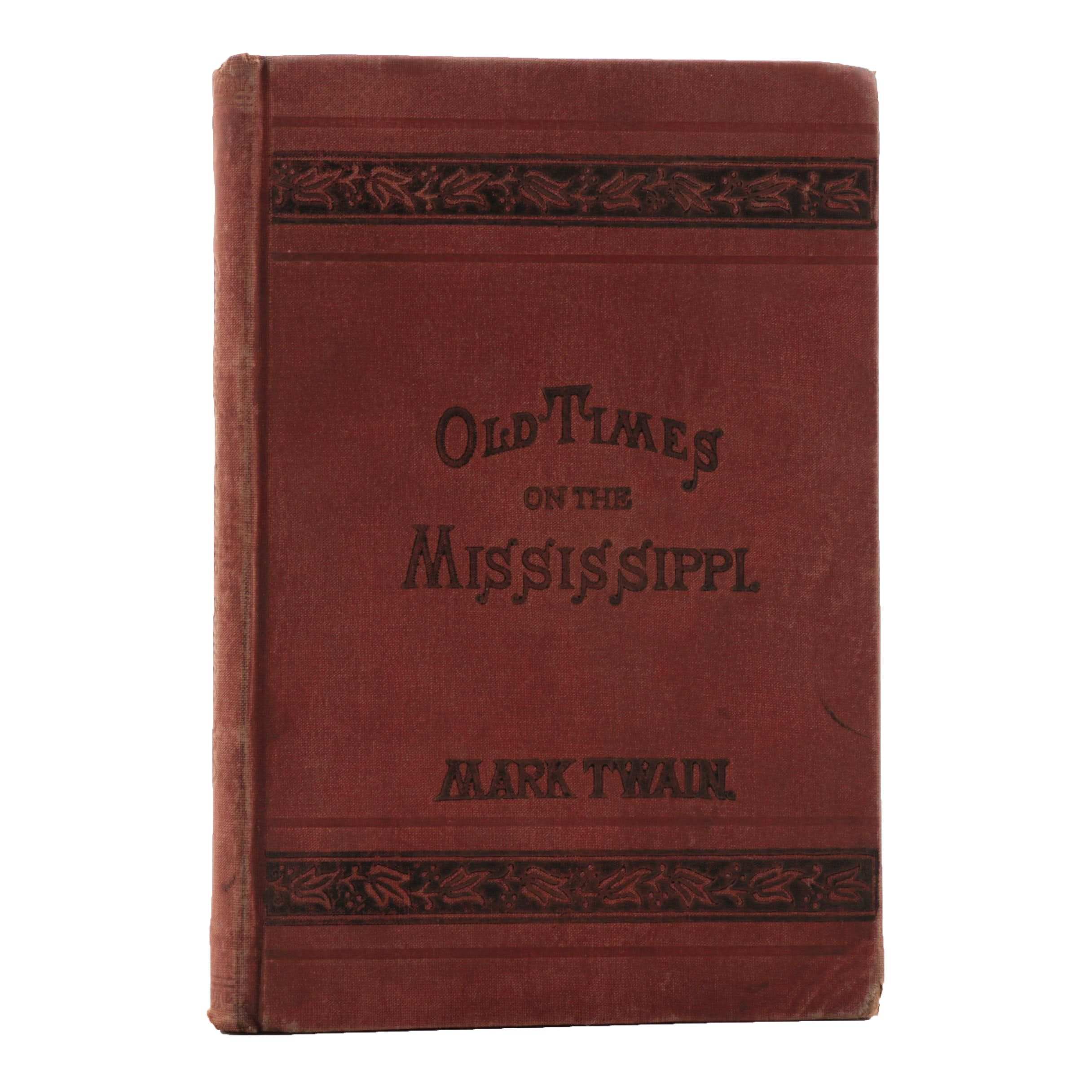 "1876 Early Canadian Edition of  Mark Twain's ""Old Times on the Mississippi"""