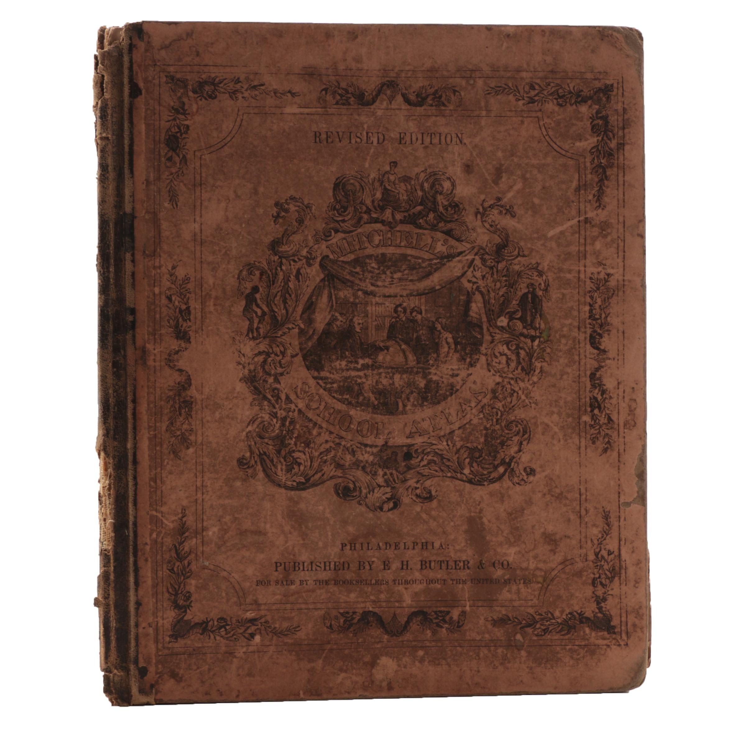 "Antique ""Mitchell's School Atlas"""
