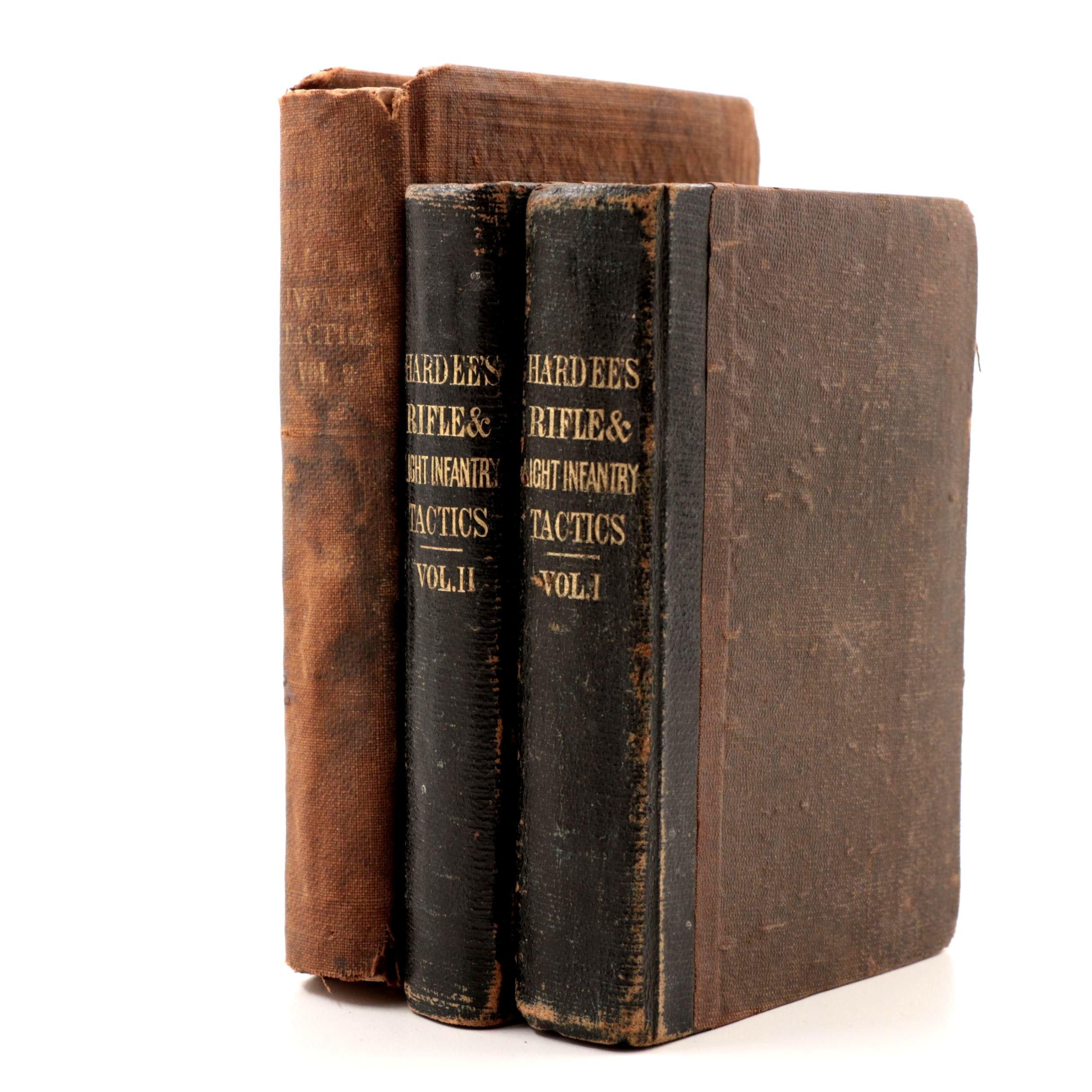 "Three Volumes of ""Hardee's Rifle & Light Infantry Tactics"" Circa 1861"