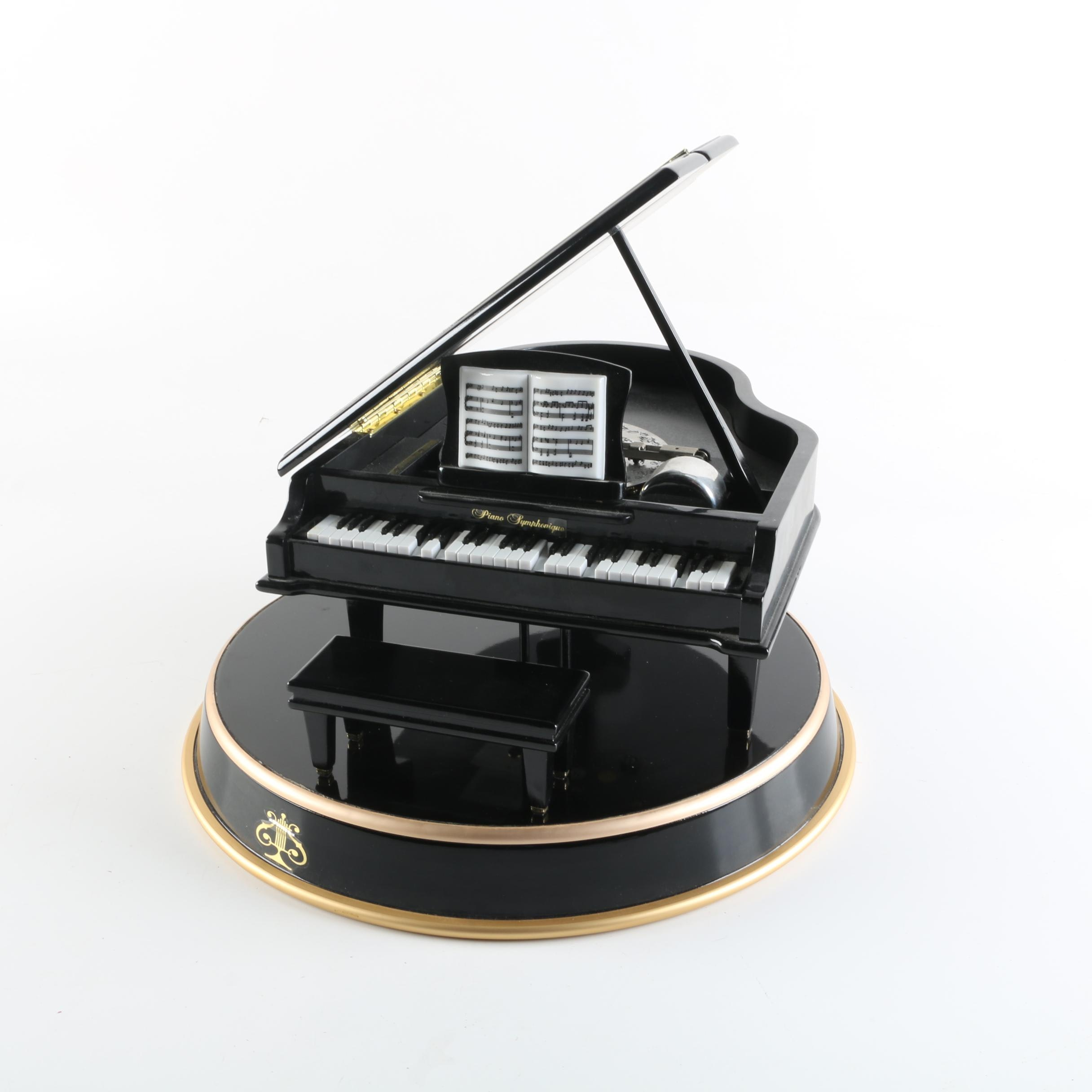 "Mr. Christmas ""Piano Symphonique"" Grand Piano Music Box with Engraved Discs"