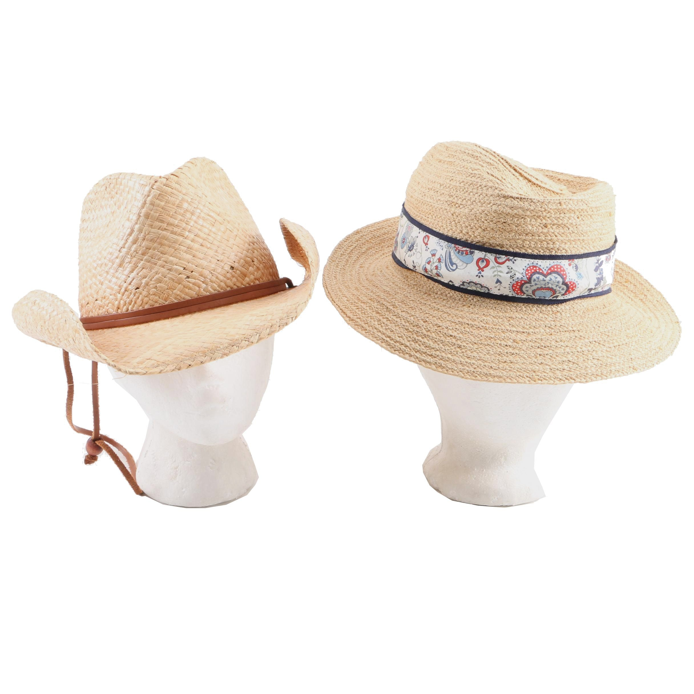 Men's Stetson and Chance Woven Straw Hats
