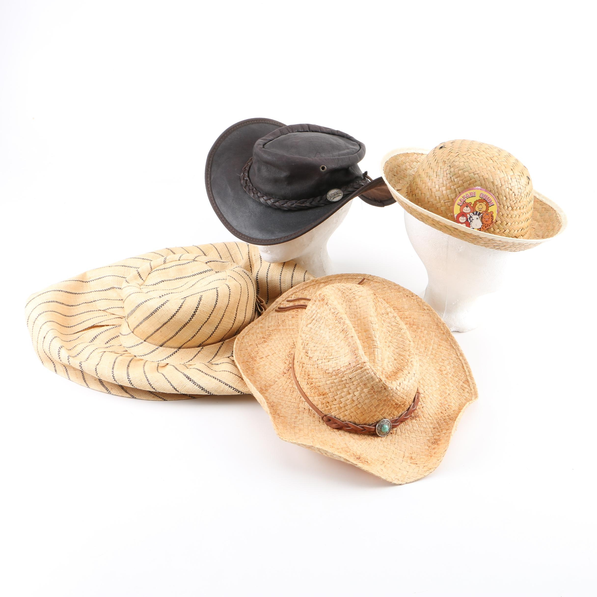 Be You Fashion Wide Brim Raffia Hat with Others Including Stetson and Barmah