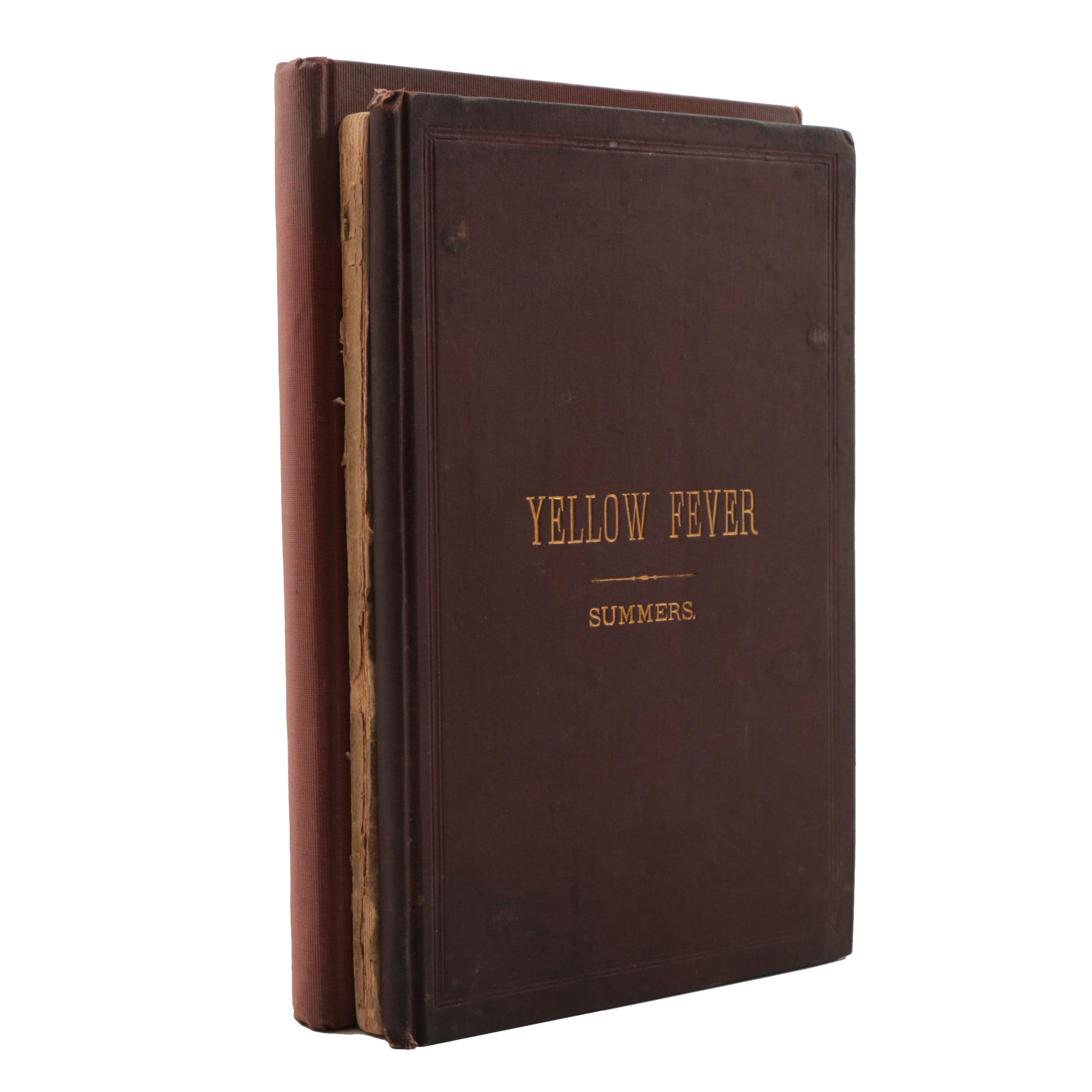 Antique Books on Yellow Fever and Signed Medical Biography