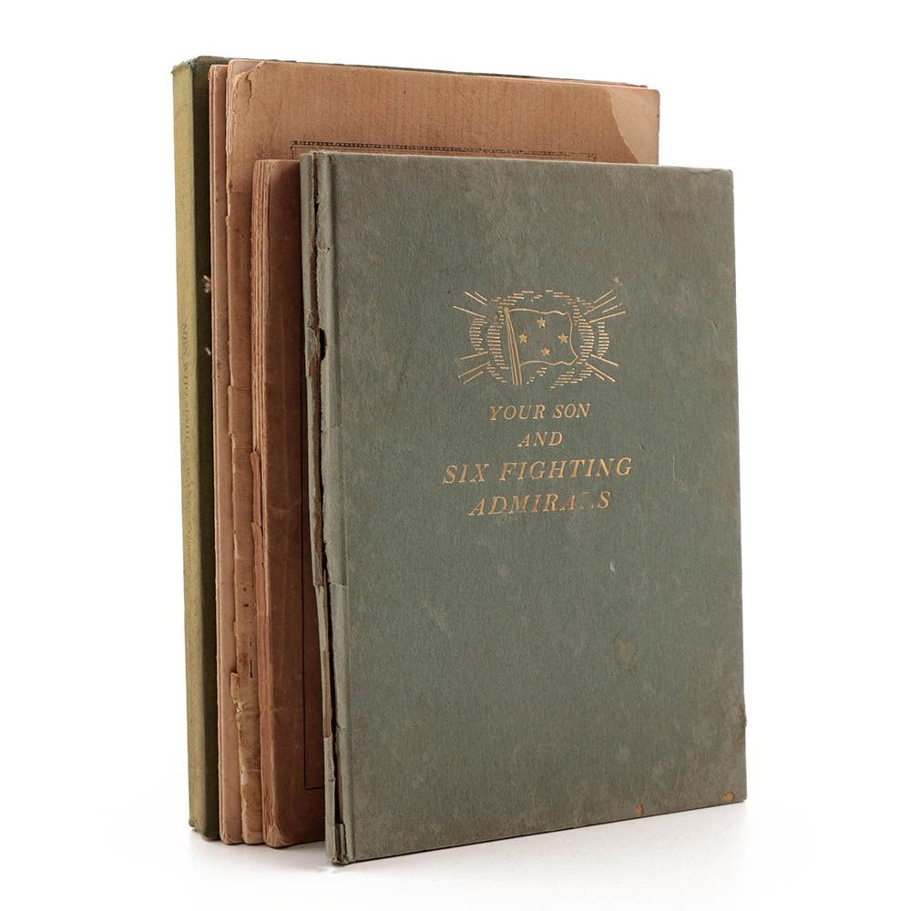 Antique Commemorative Books with Memorial Address, Speeches, Biographies