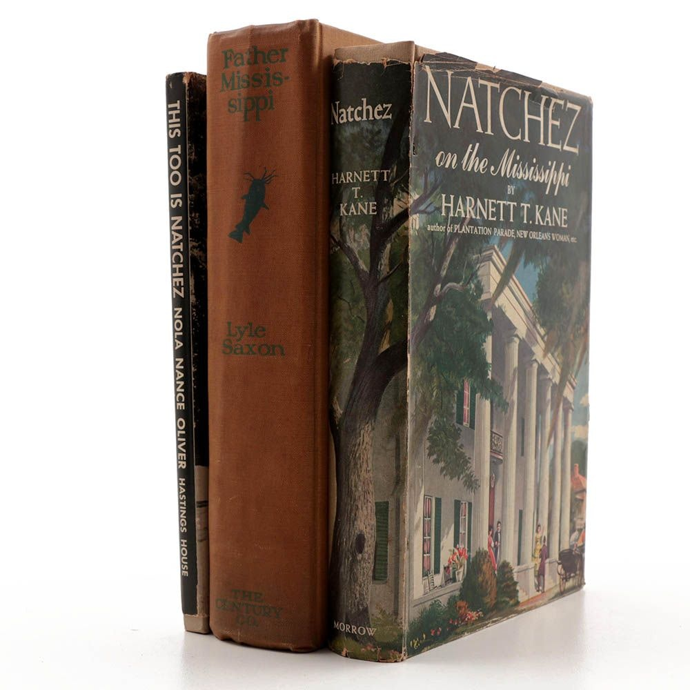 Three Books on Natchez Mississippi  and The Mississippi River