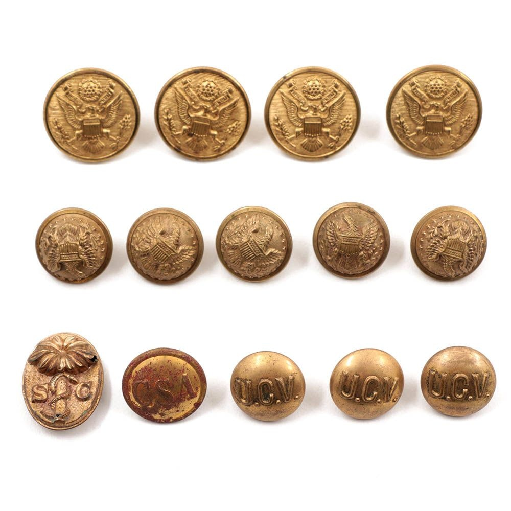 Civil War And WWI Military Uniform Buttons