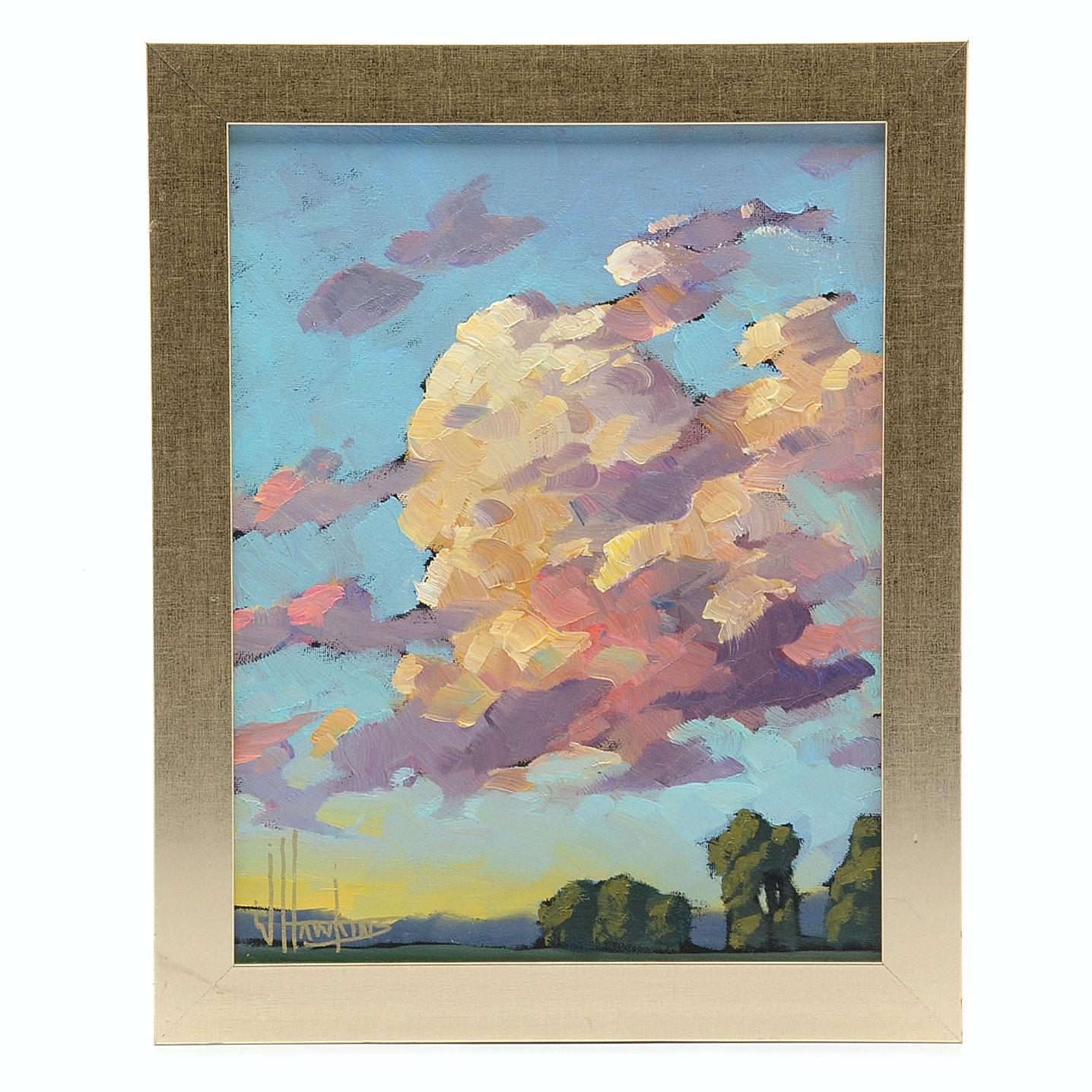 William Hawkins Original Oil on Canvas Landscape