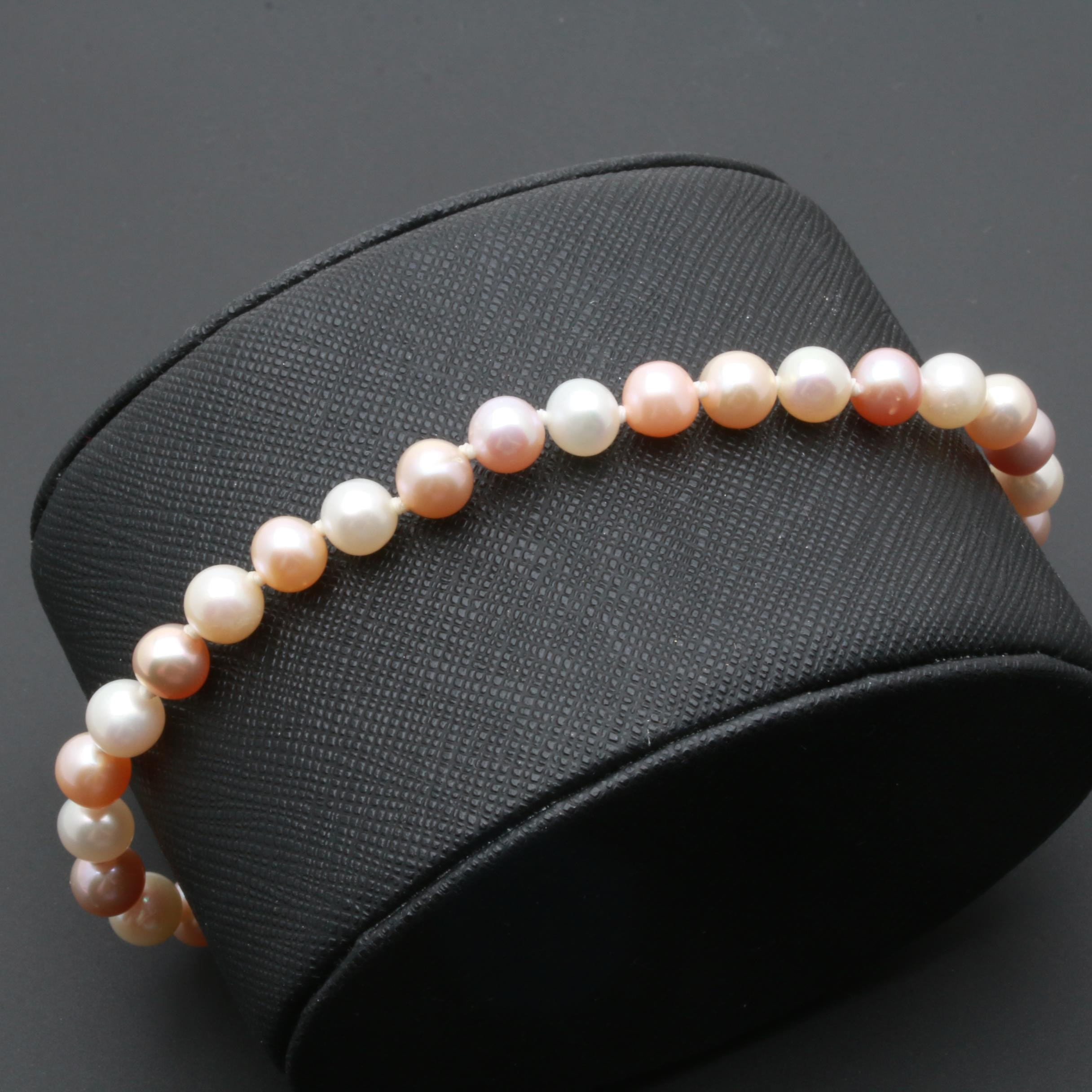 14K Yellow Gold Cultured Pearl Bead Bracelet
