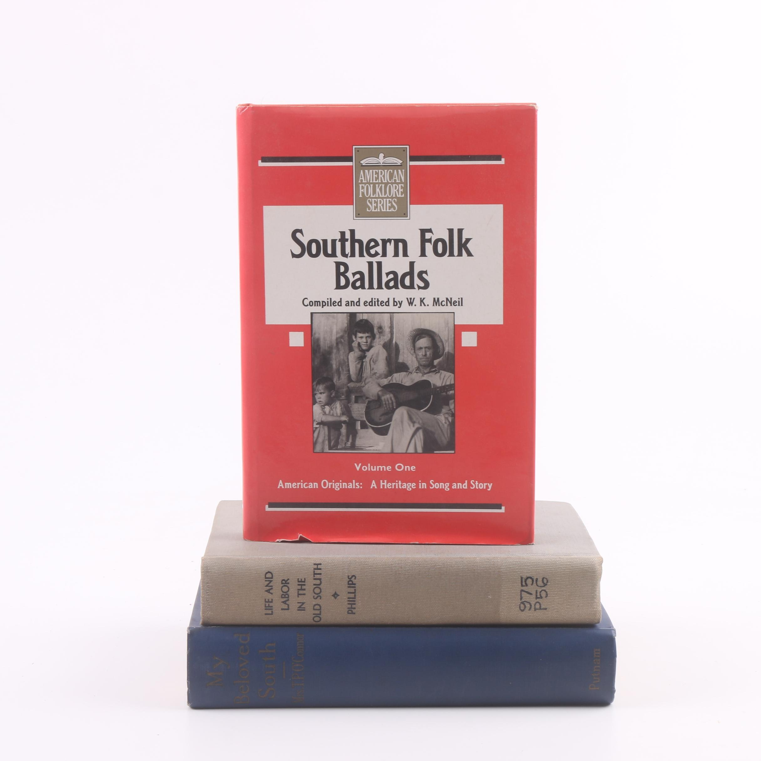 Books on Old Southern Society and Songs