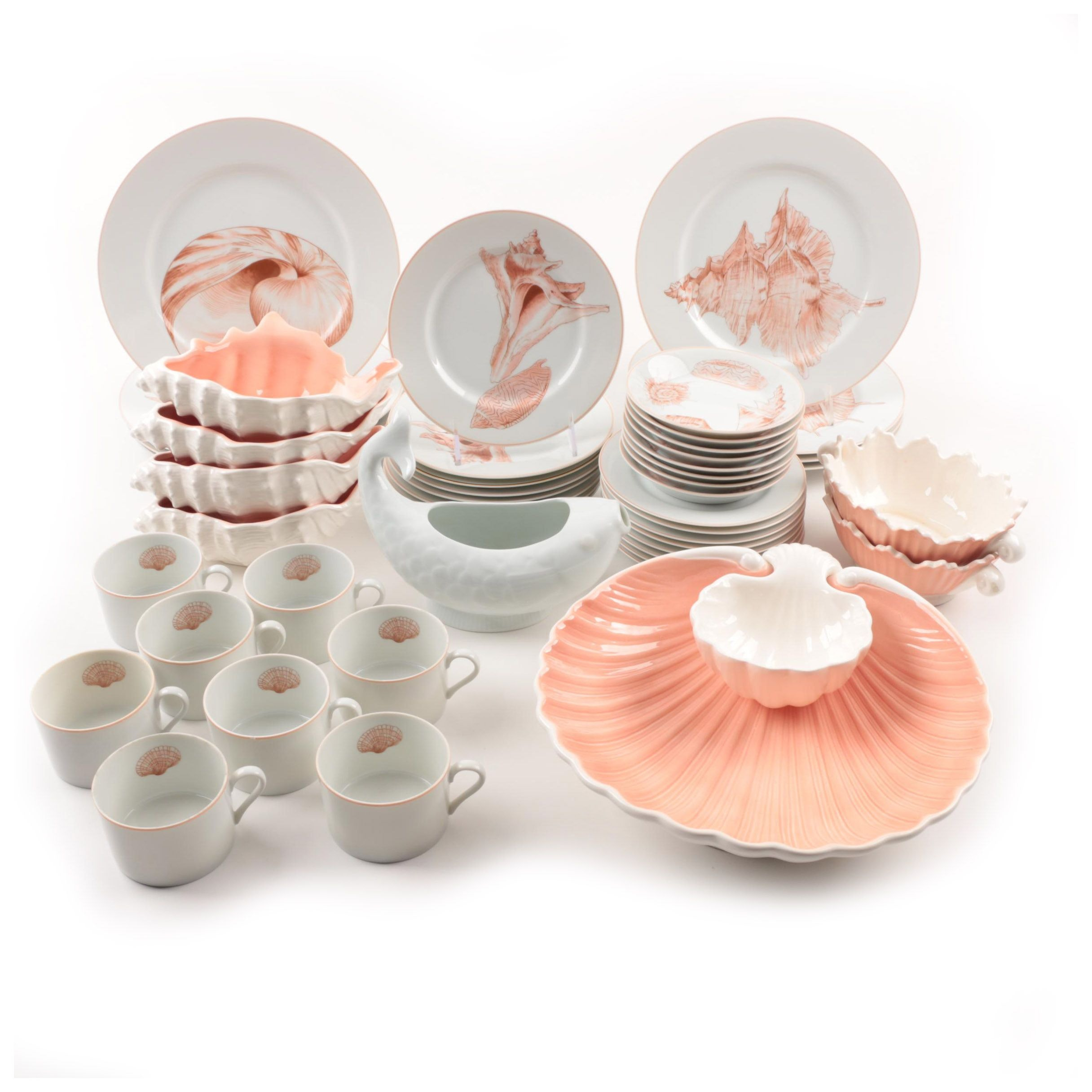 """Fitz and Floyd """"Coquille"""" Shell Motif Dinnerware"""