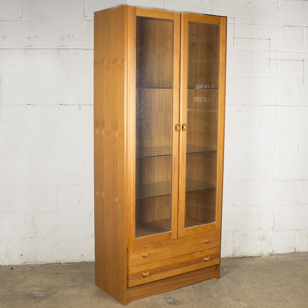 Danish Modern Teak Display Cabinet by Domino Møbler