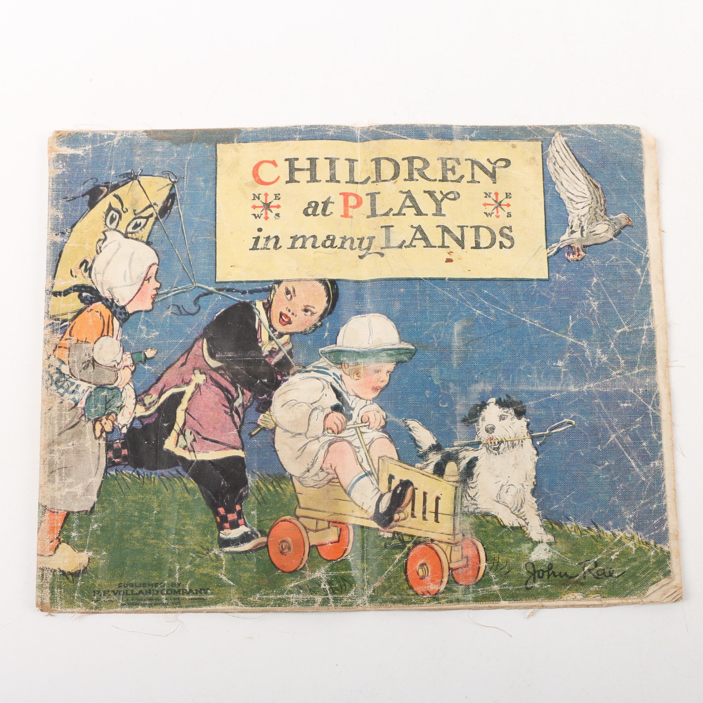 "1922 ""Children at Play in Many Lands"" by John Rae"