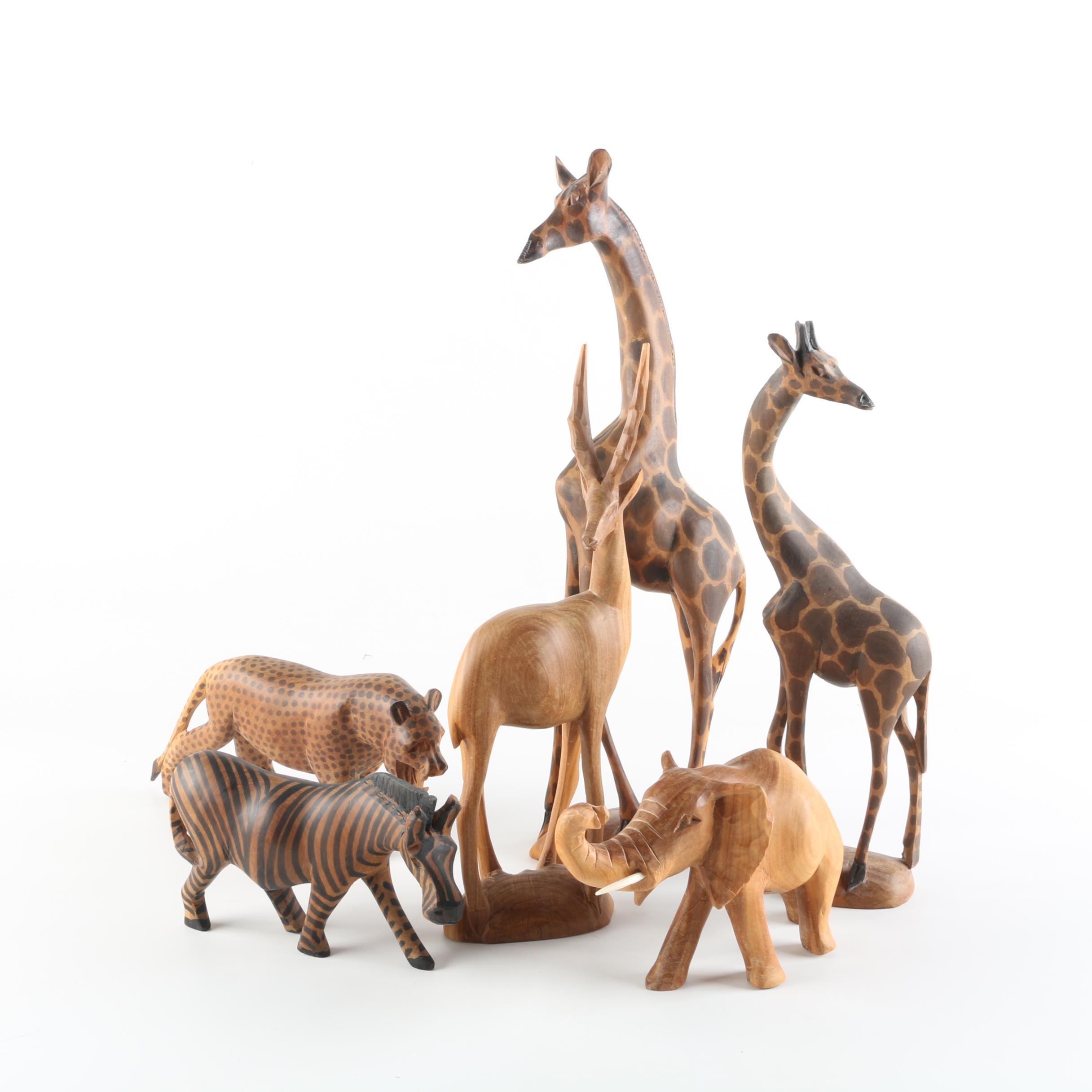 Kenyan Carved Wood Animal Figures