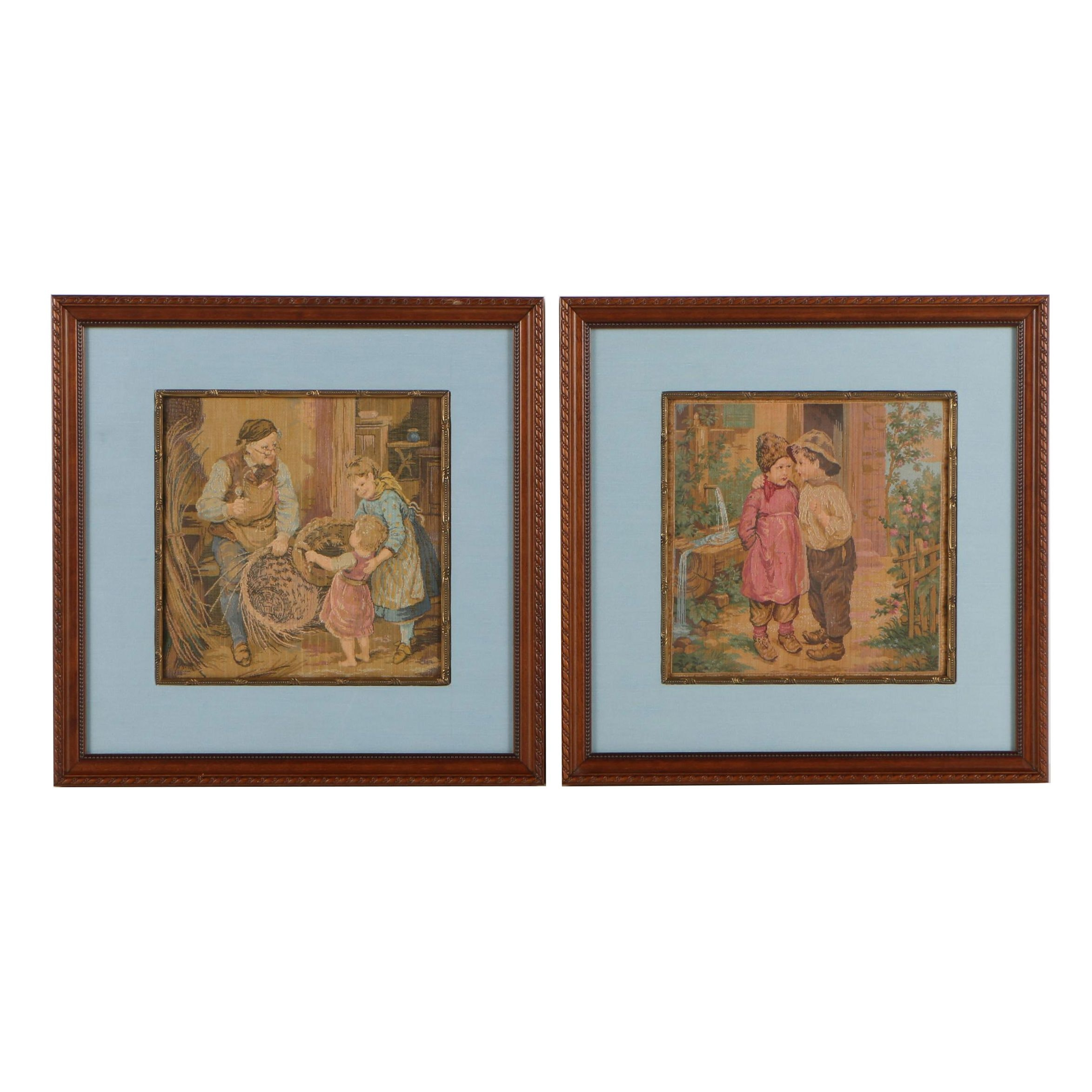 Framed Woven Pictorial Tapestries