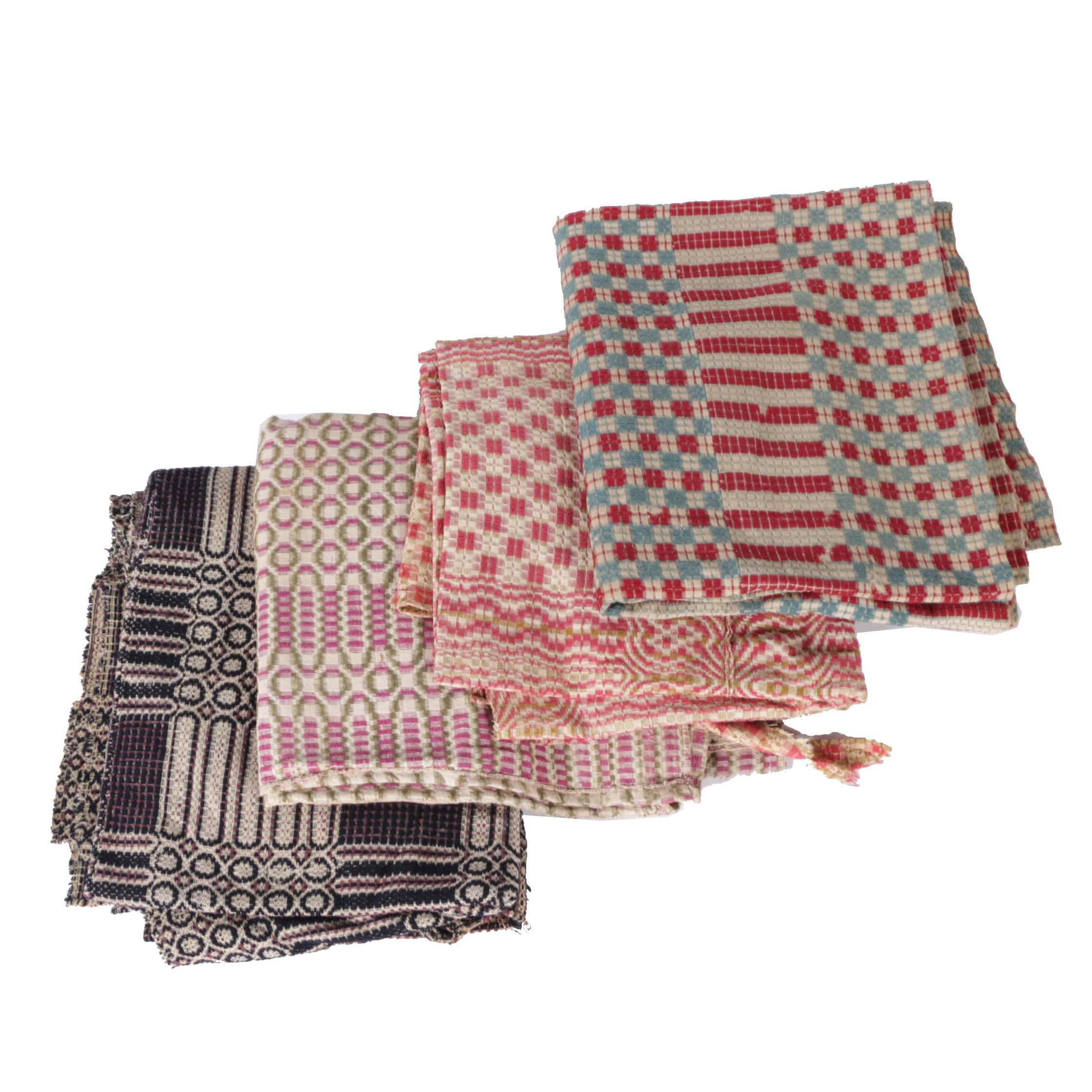 Antique Handwoven Wool Coverlets