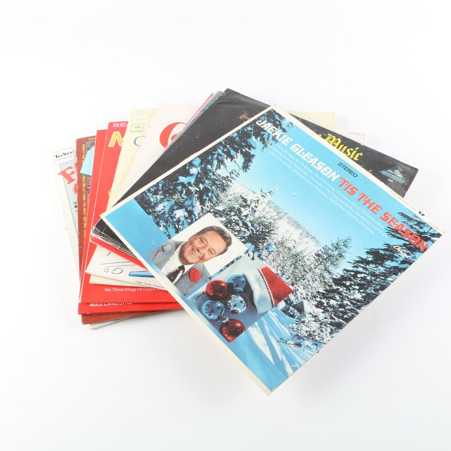 Christmas Records Including Jim Reeves, Charley Pride, Walt Disney ...