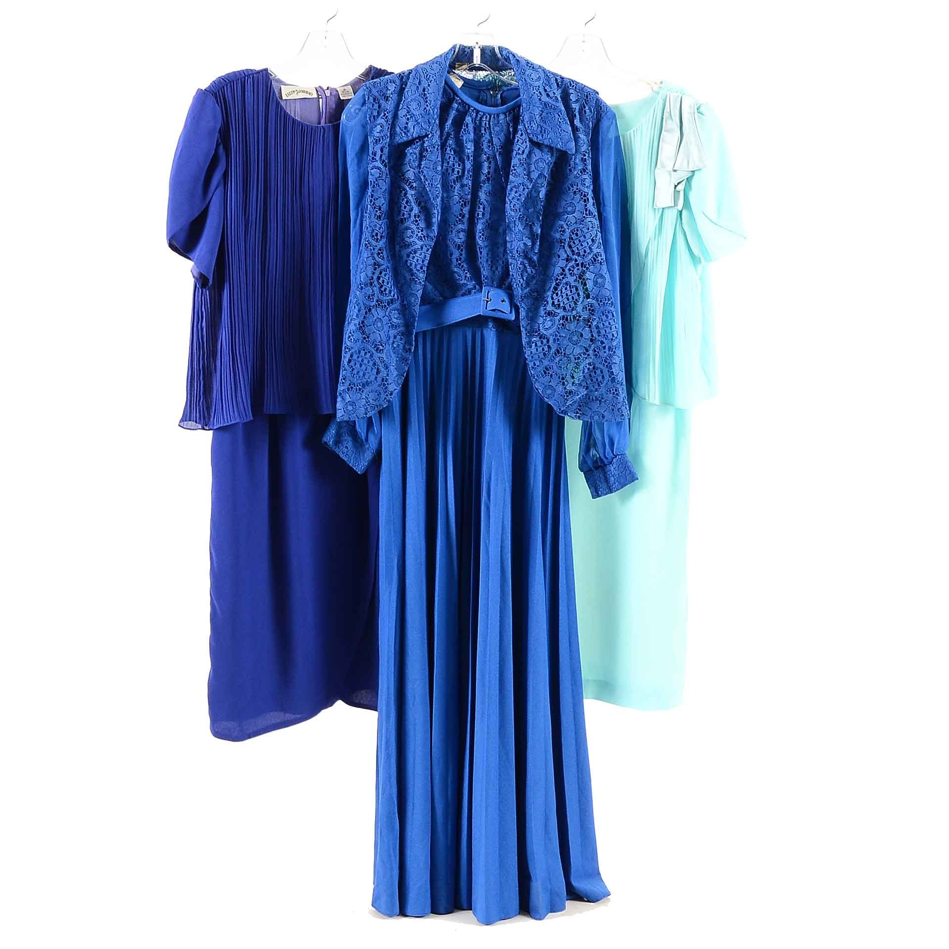Collection of 1970s-80s Vintage Dresses Including Sandi Dee and Lizzy & Johnny