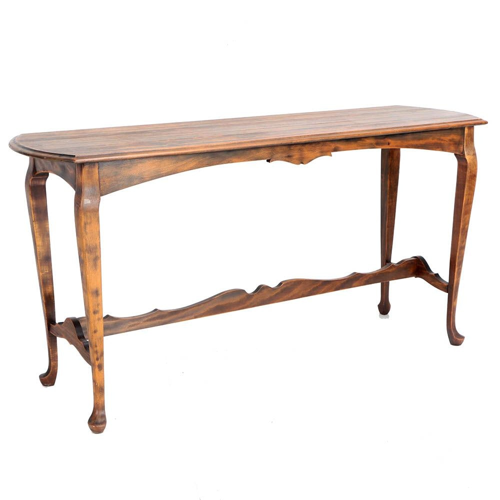 Stained Wooden Console Table